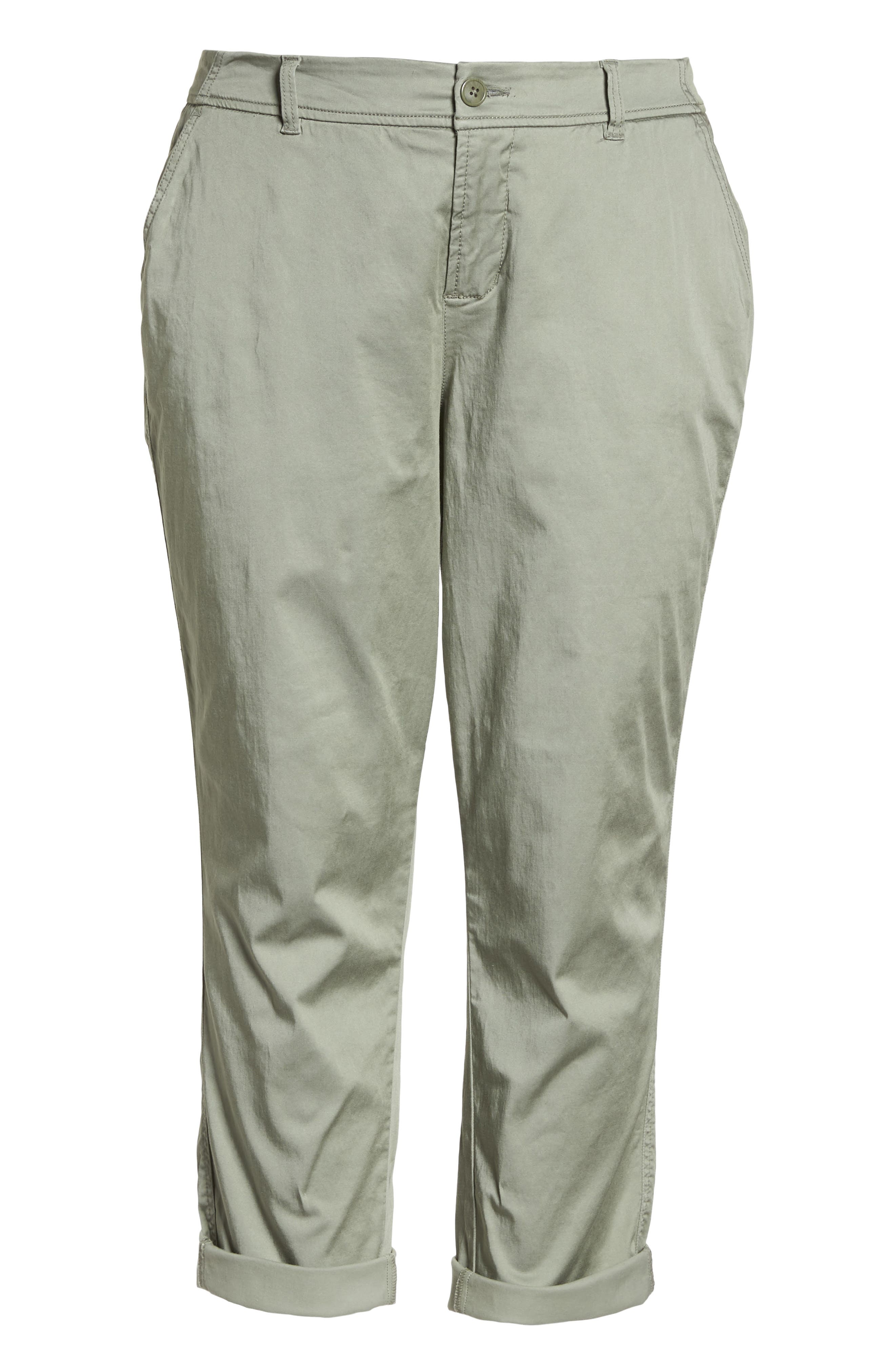 Stretch Cotton Blend Pants,                             Alternate thumbnail 7, color,                             Faded Seagrass