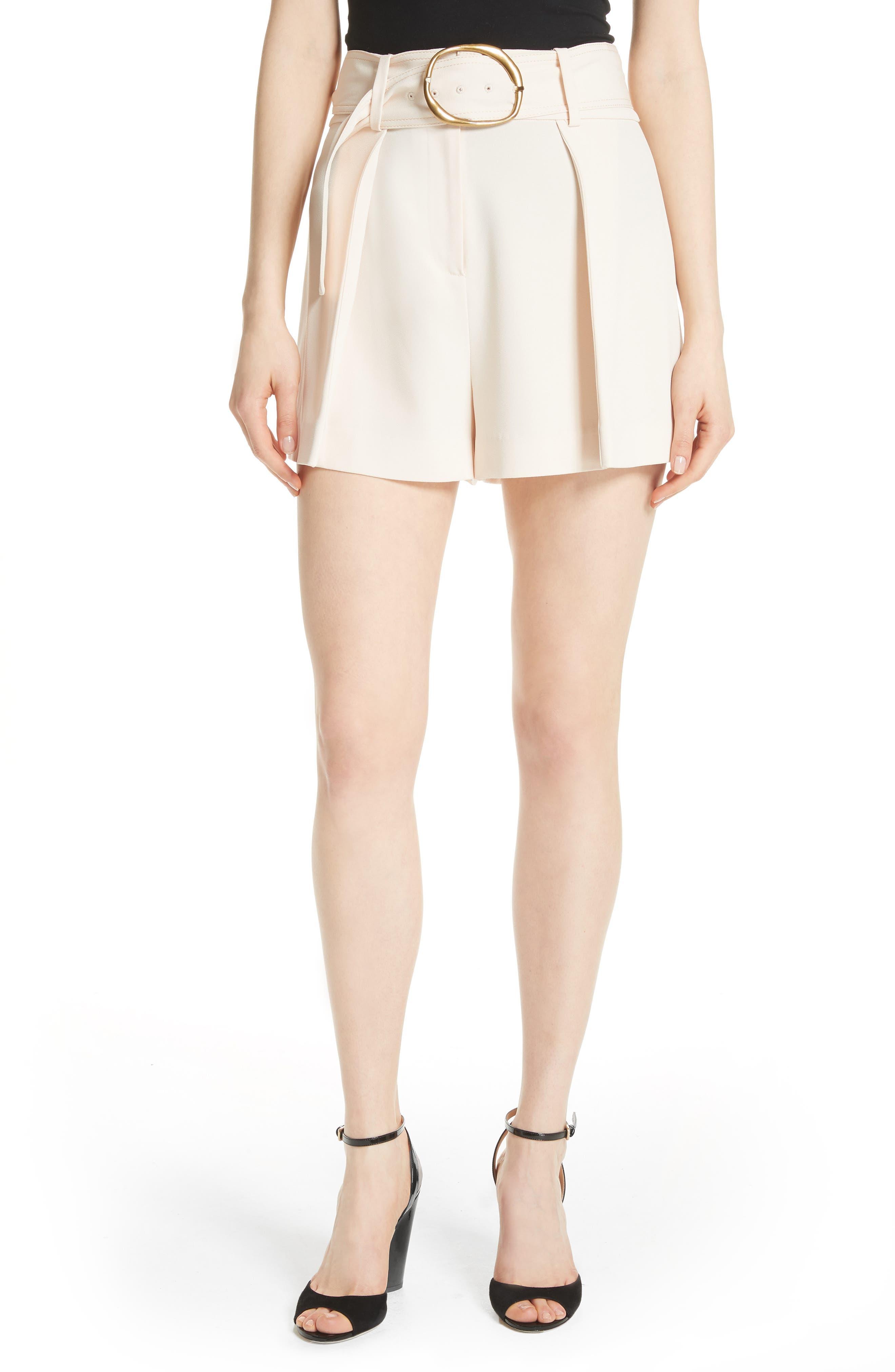 Belted Shorts,                         Main,                         color, Sandstone