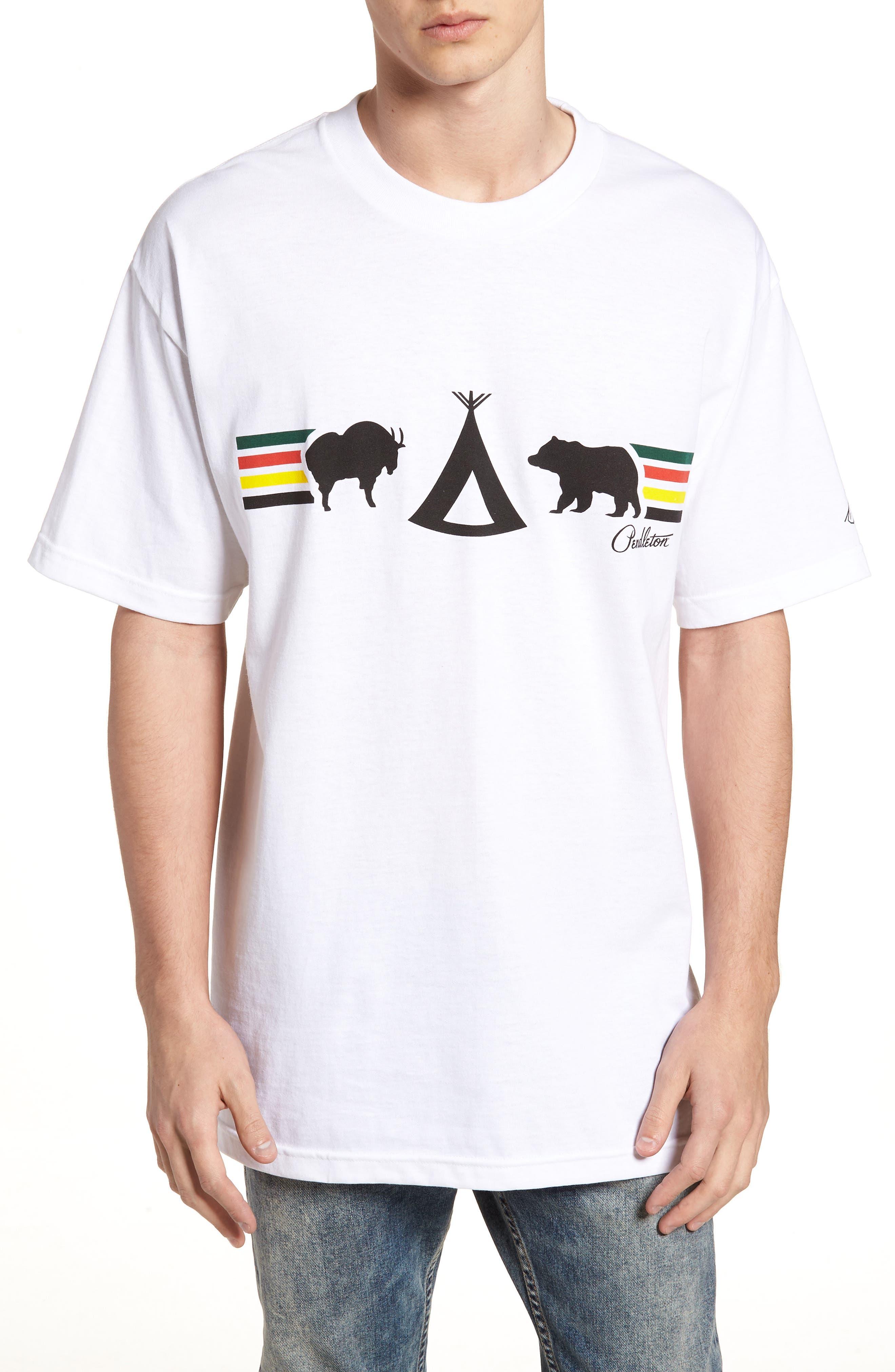 Crewneck T-Shirt,                         Main,                         color, White Glacier