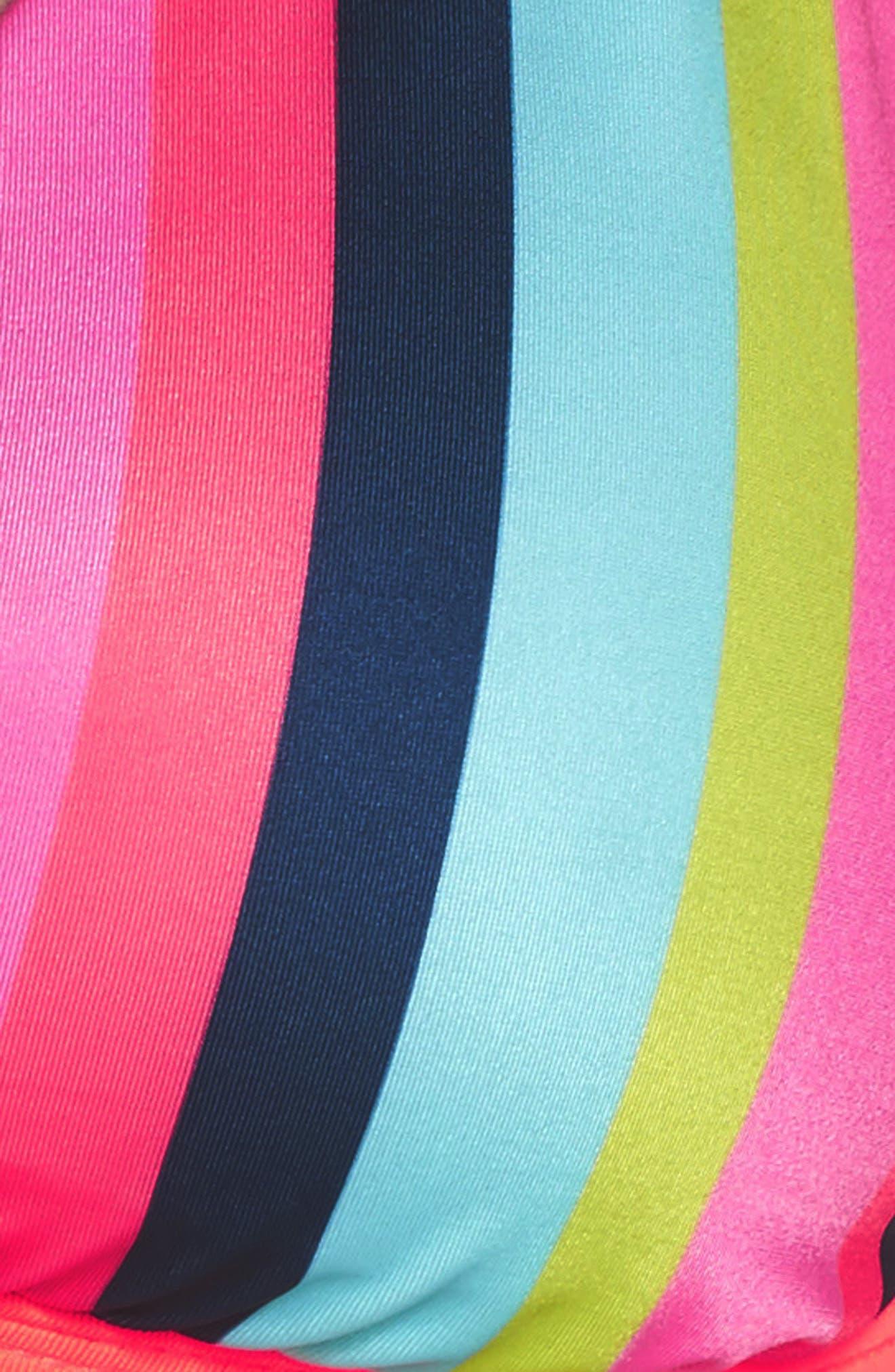Triangle Bikini Top,                             Alternate thumbnail 5, color,                             Multi Stripe