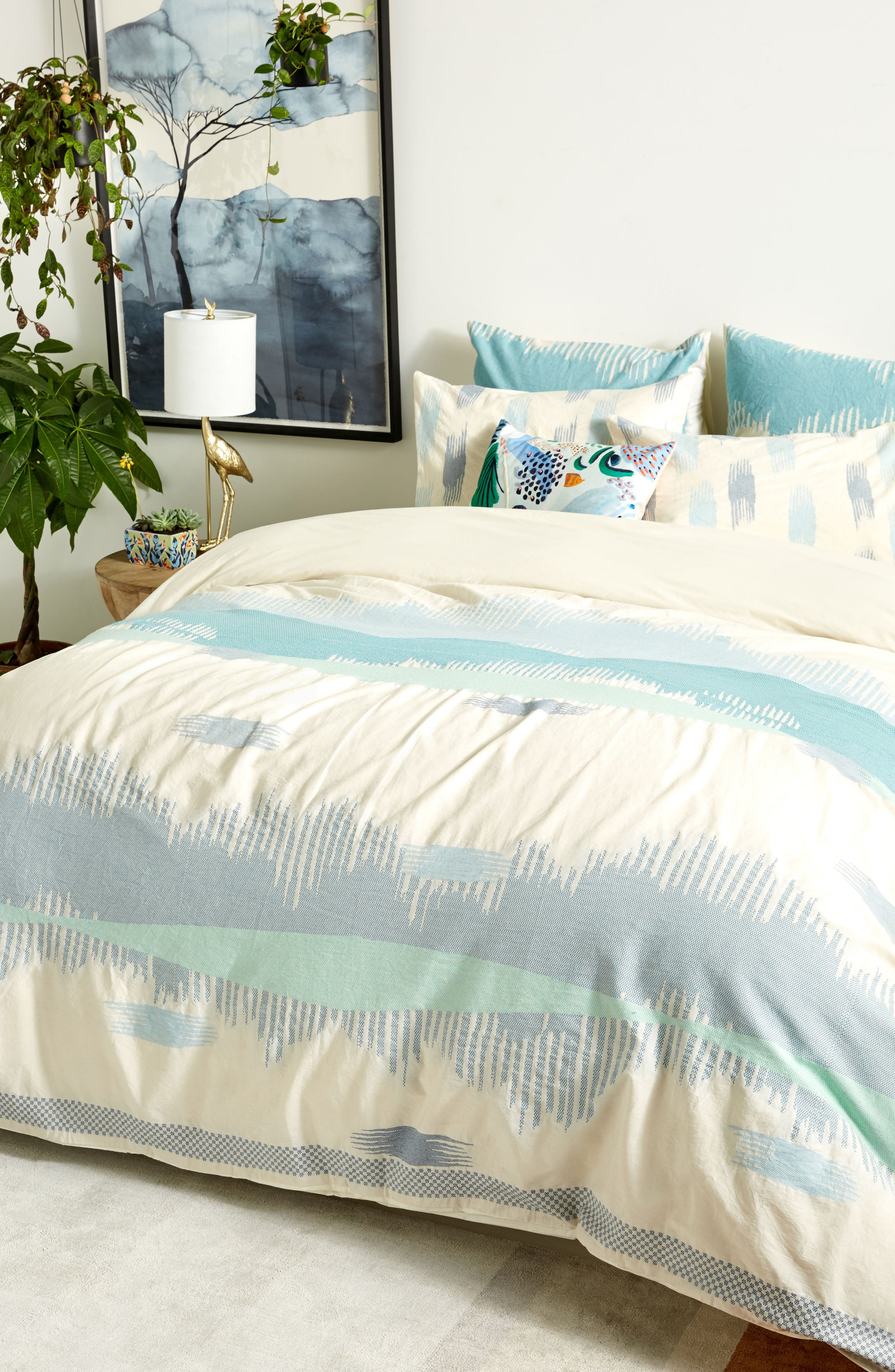 Woven Calera Duvet Cover,                             Alternate thumbnail 6, color,