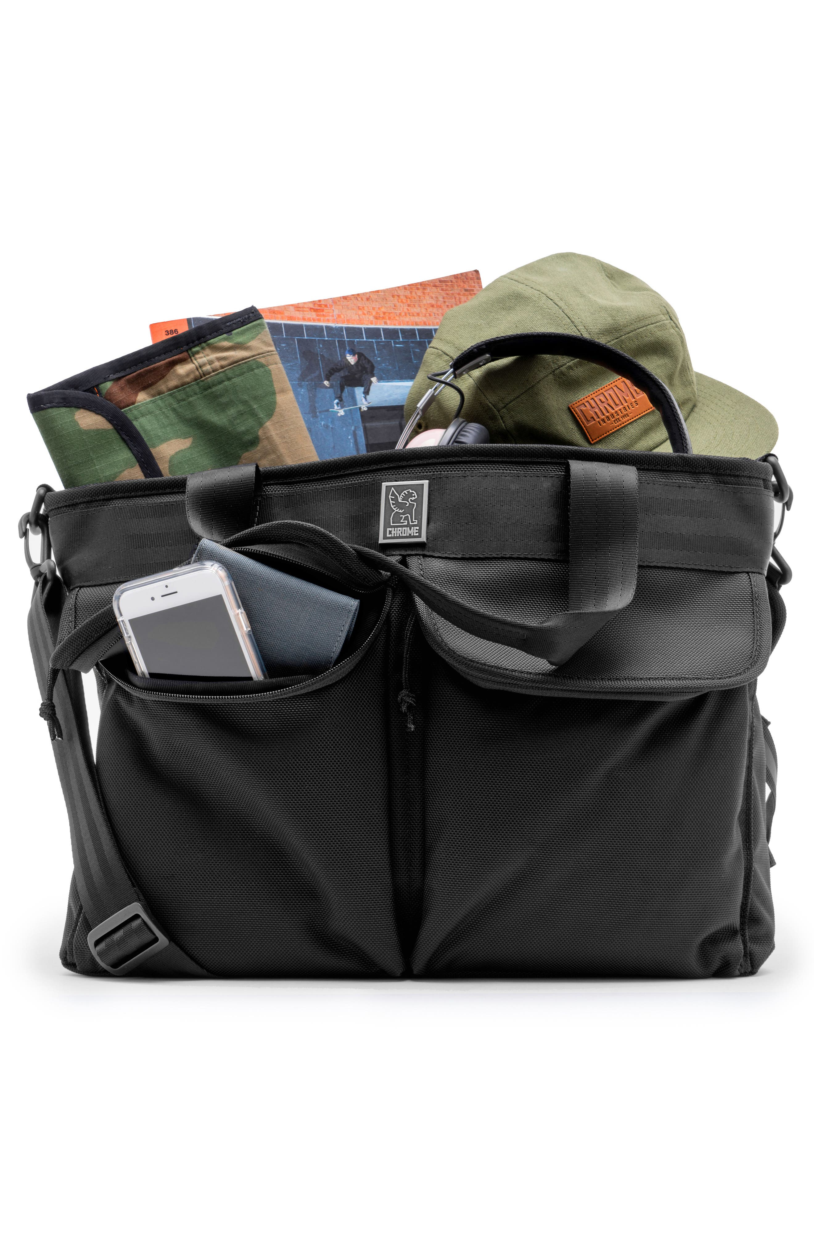 Juno Travel Tote Bag,                             Alternate thumbnail 3, color,                             All Black