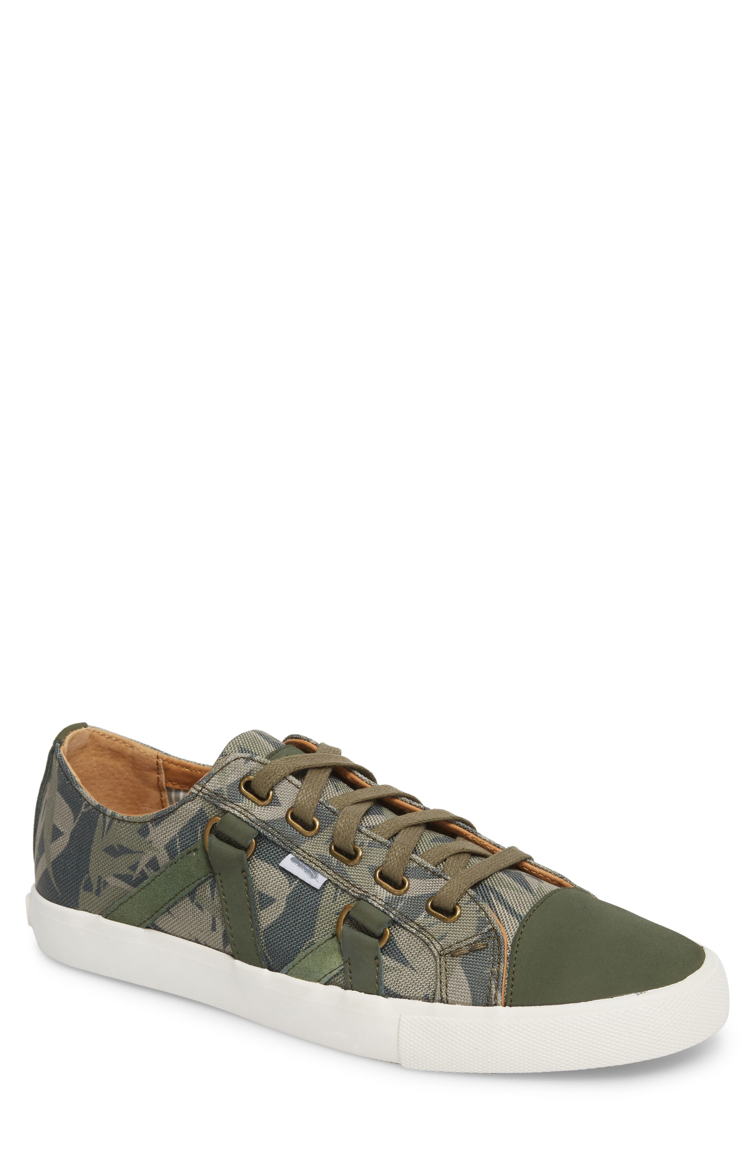 Signature Low Top Sneaker,                         Main,                         color, Bamboo Canvas
