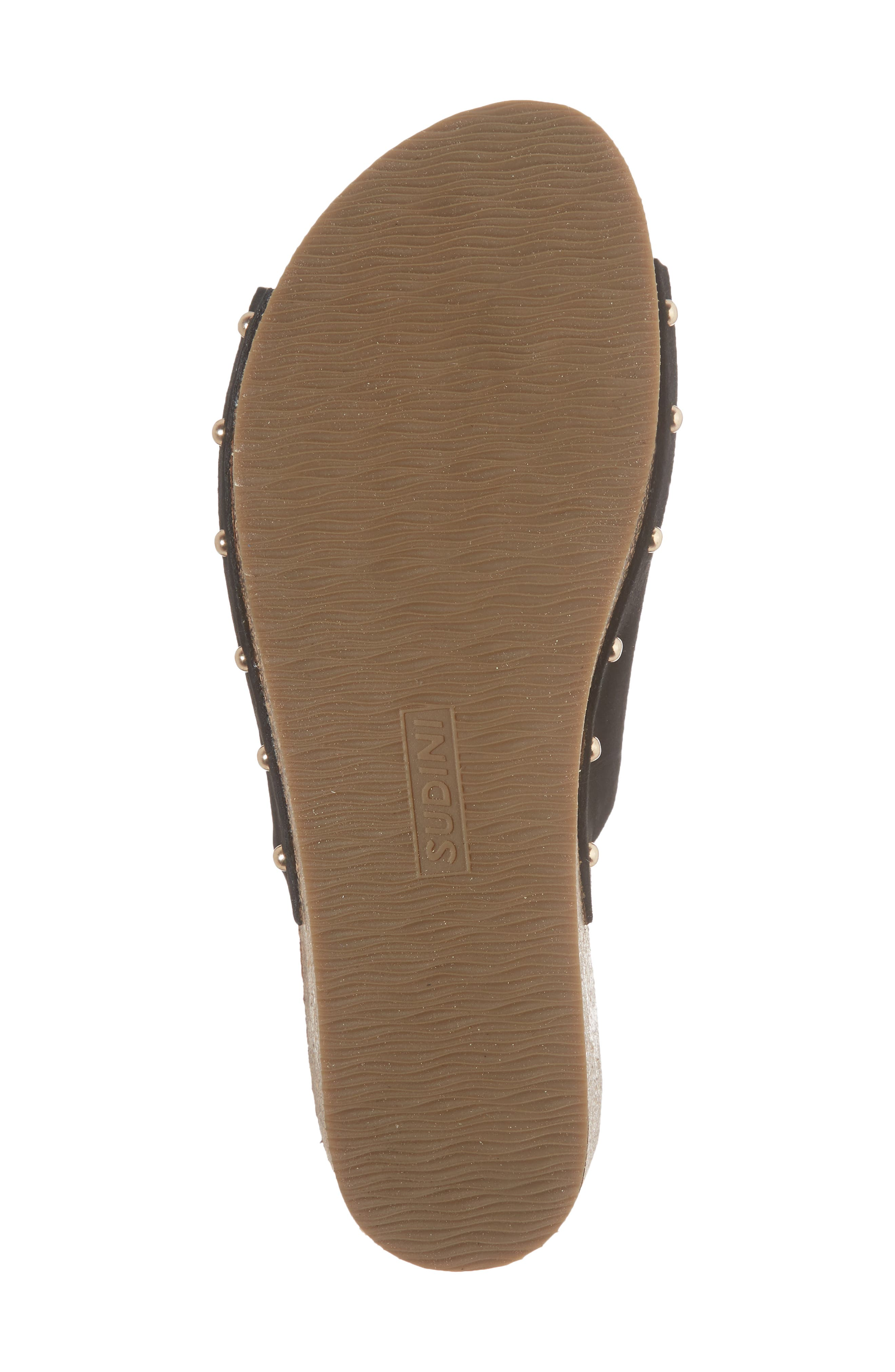 Pavia Wedge Mule,                             Alternate thumbnail 6, color,                             Black Leather