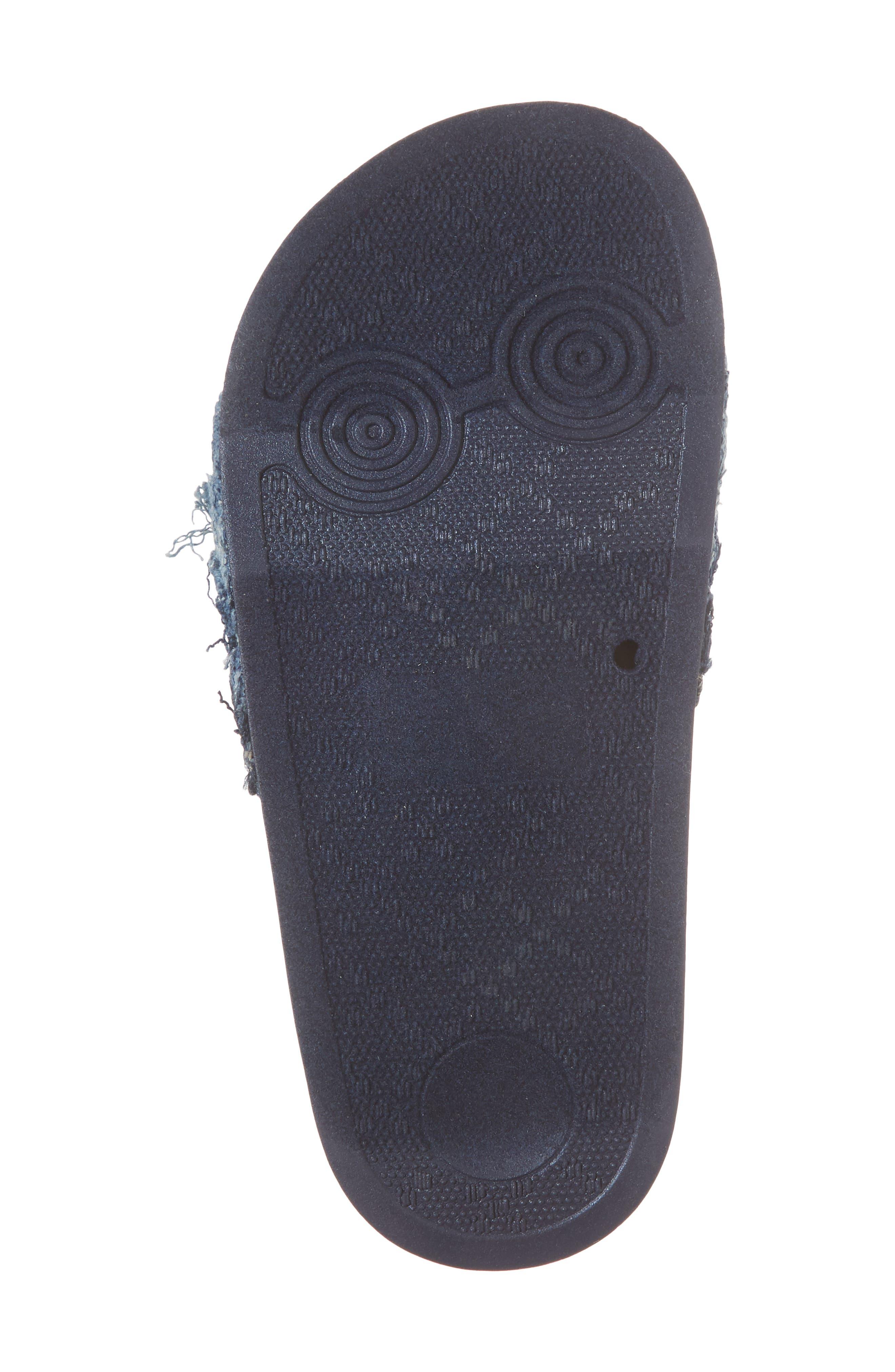 Reaction Kenneth Cole Shower Fray Slide Sandal,                             Alternate thumbnail 6, color,                             Denim