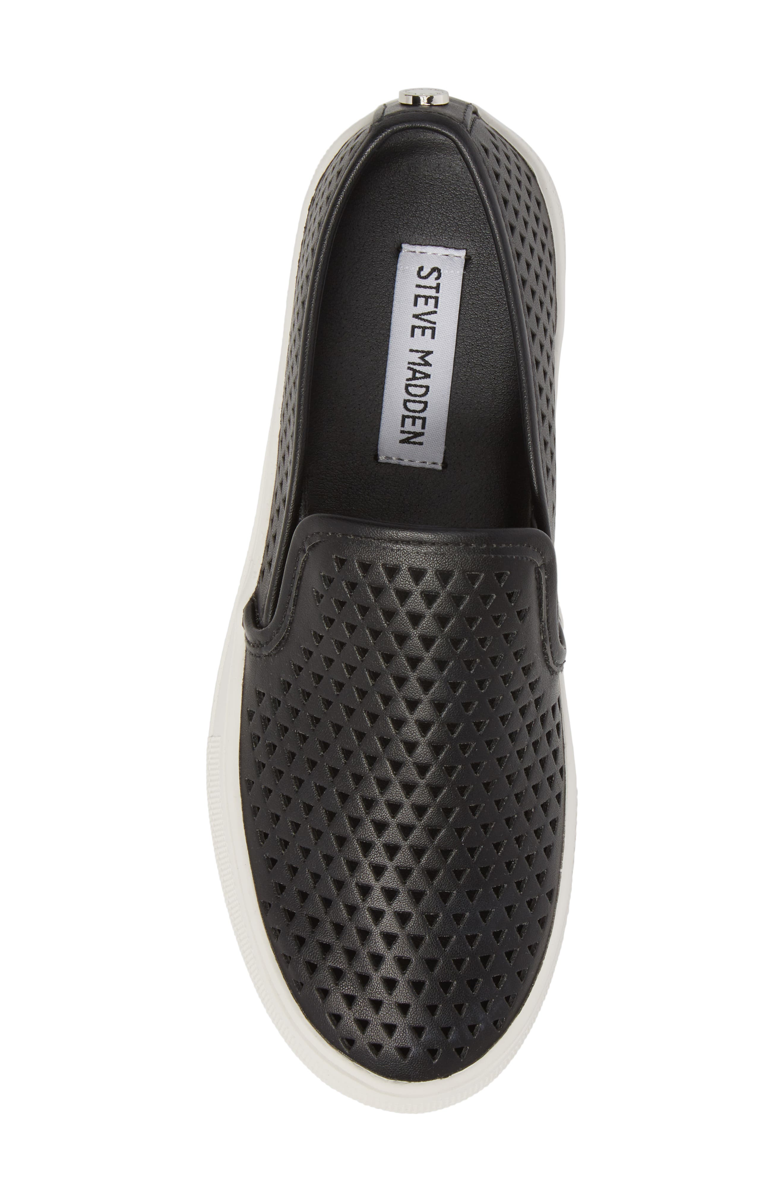 Gal-P Perforated Slip-On Sneaker,                             Alternate thumbnail 5, color,                             Black