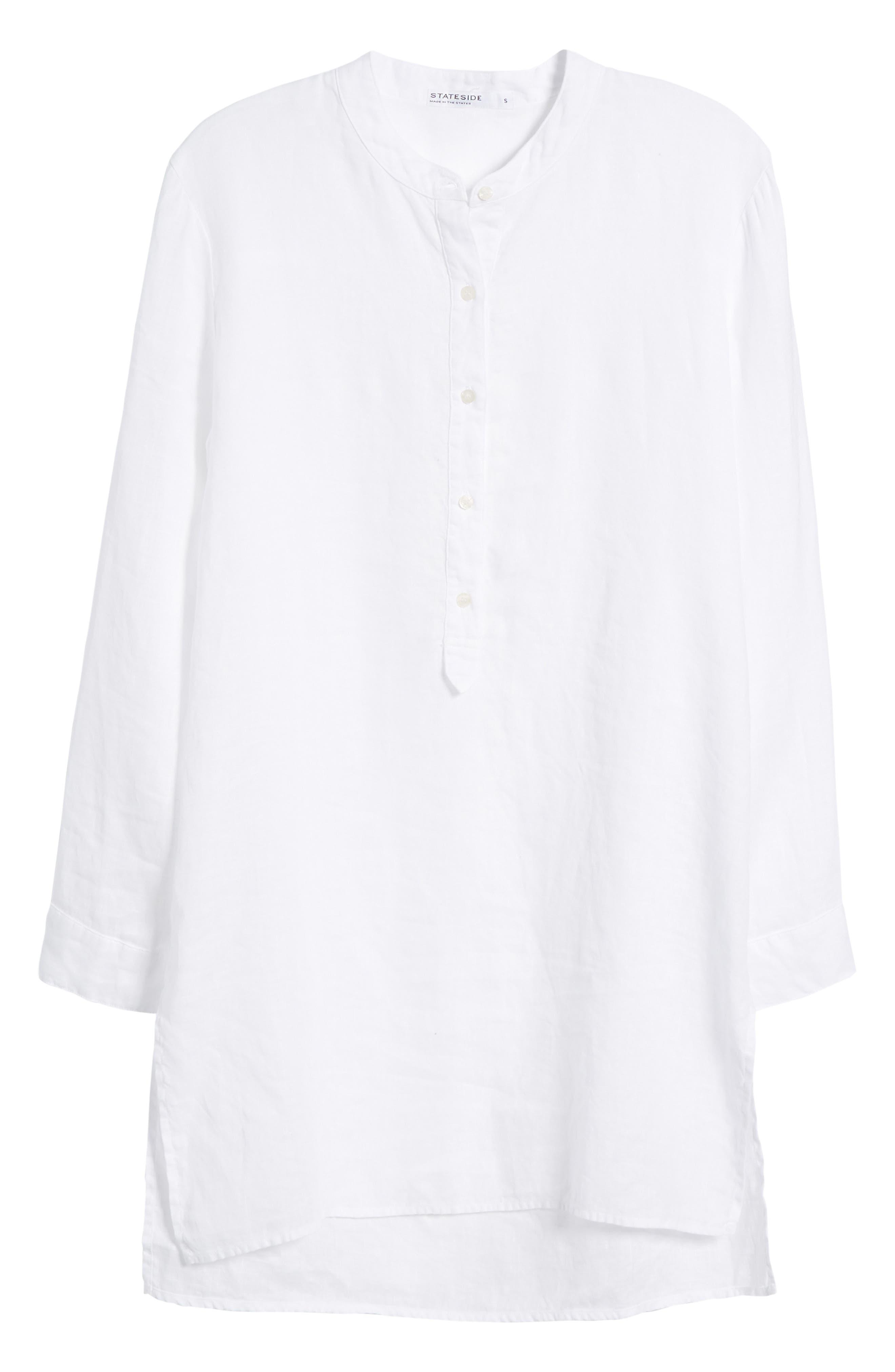 Shirting Tunic Top,                             Alternate thumbnail 7, color,                             White
