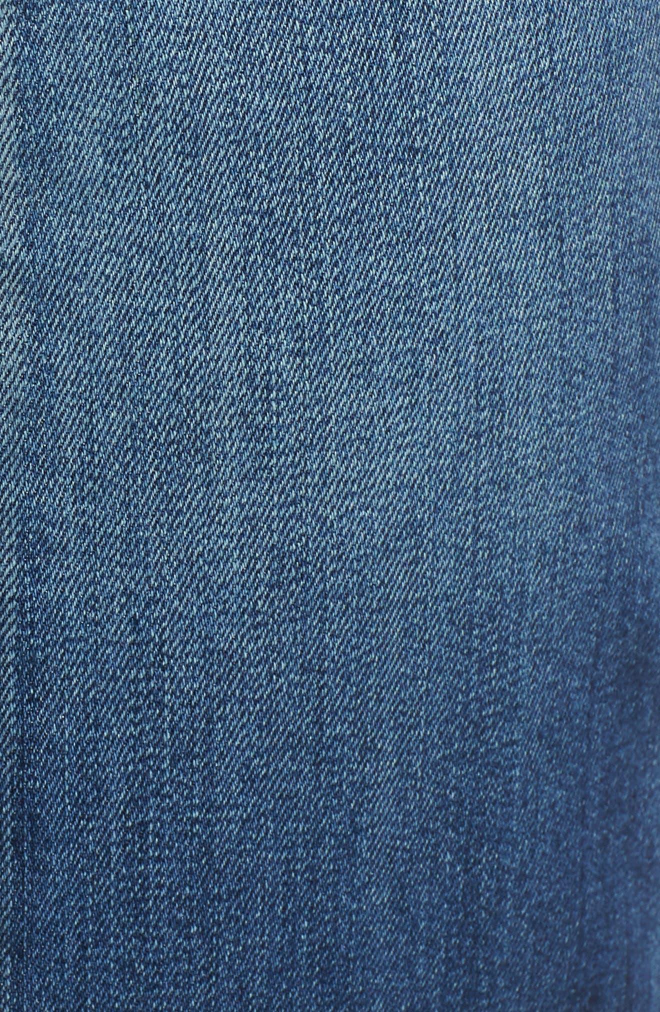 Split Back Crop Jeans,                             Alternate thumbnail 6, color,                             Ventura