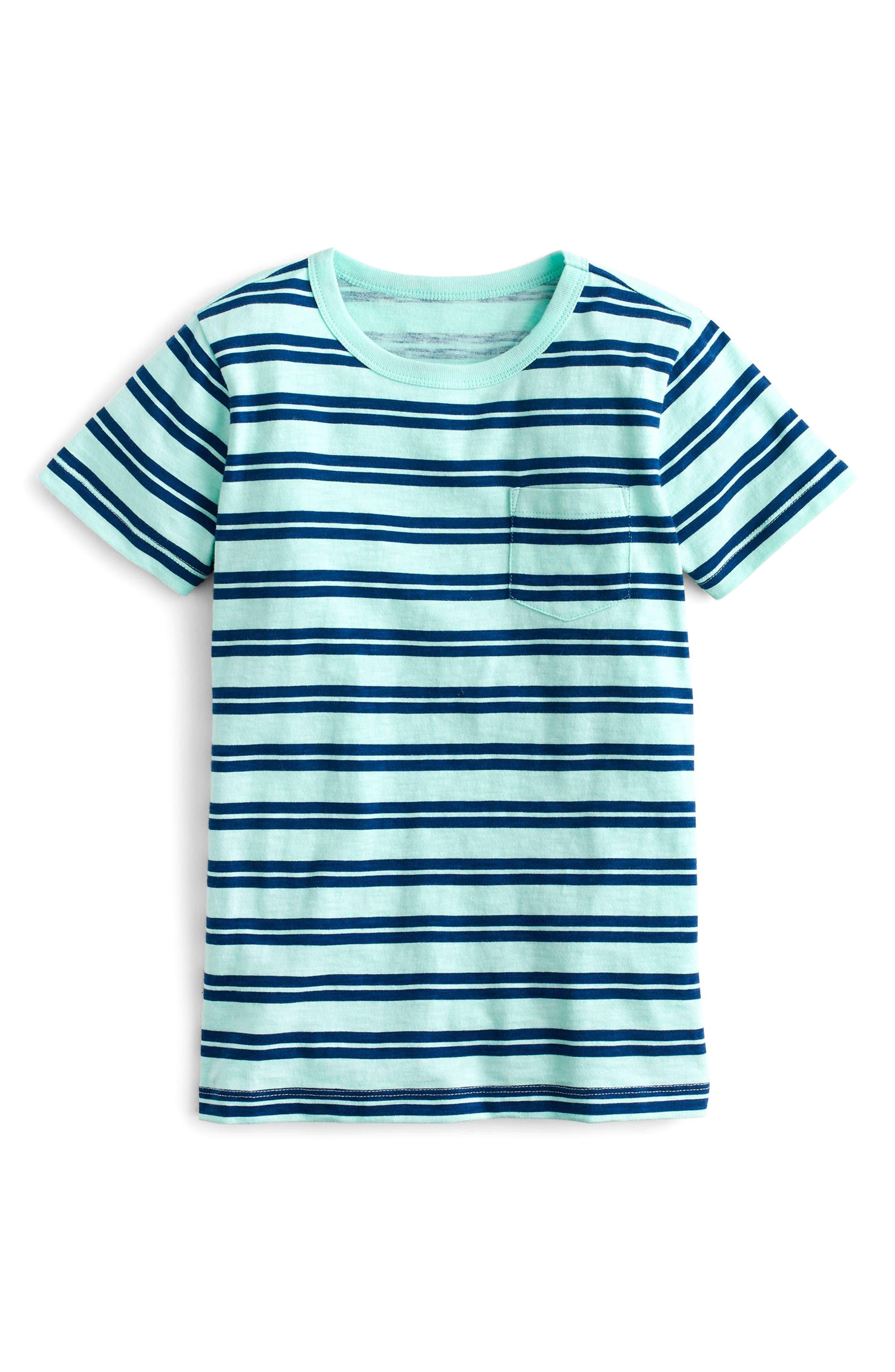 Stripe Pocket T-Shirt,                             Main thumbnail 1, color,                             Fresh Spearmint