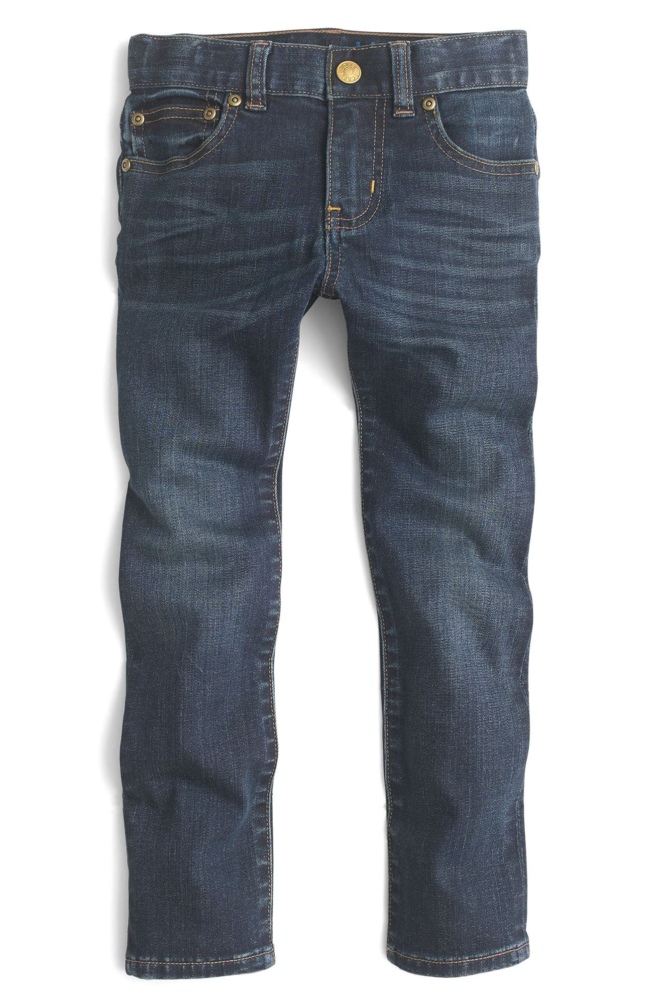 Dark Wash Stretch Skinny Fit Jeans,                             Main thumbnail 1, color,                             Baxter Wash
