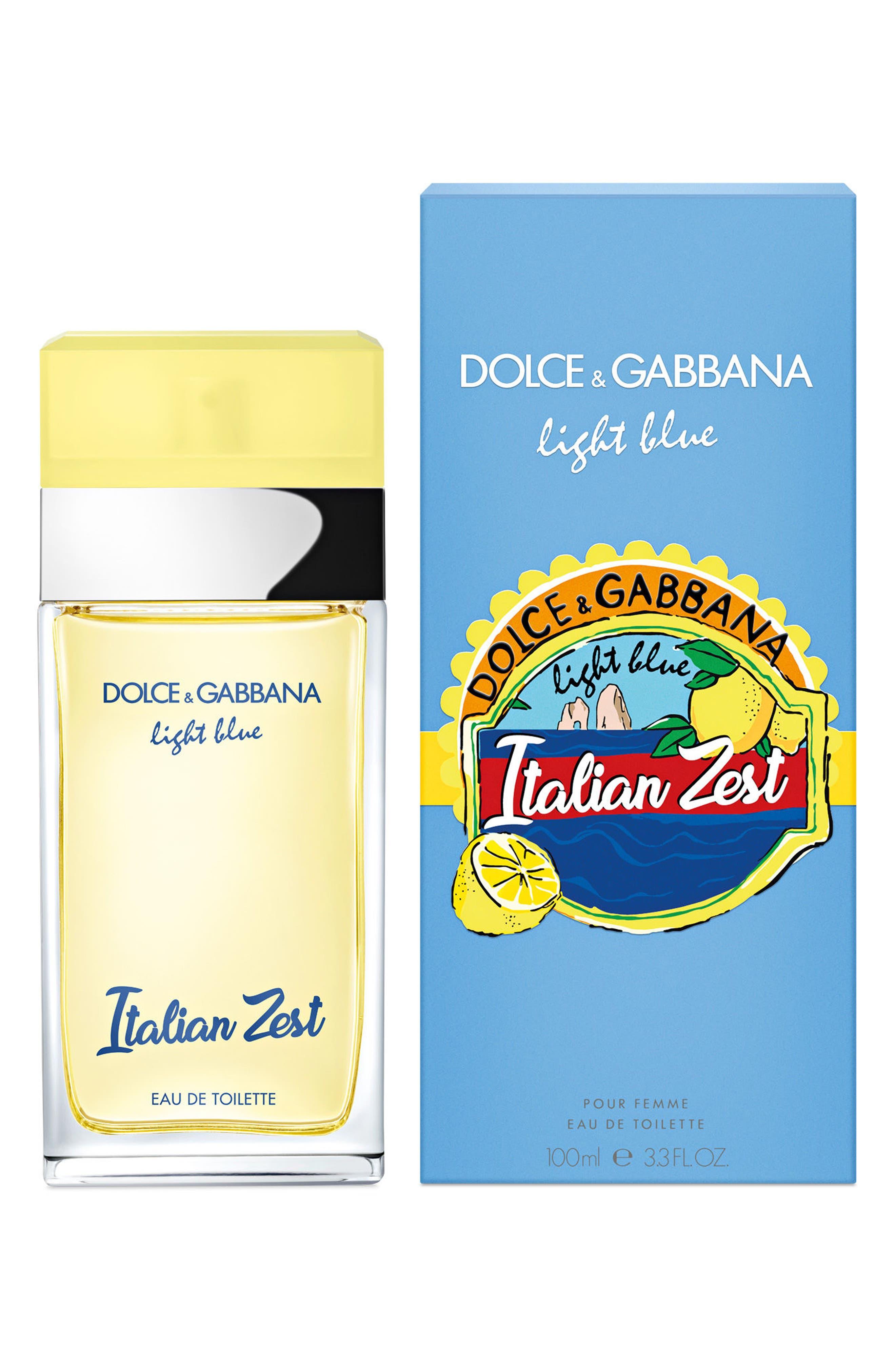 Dolce&Gabbana Light Blue Italian Zest Eau de Toilette,                             Alternate thumbnail 2, color,                             No Color