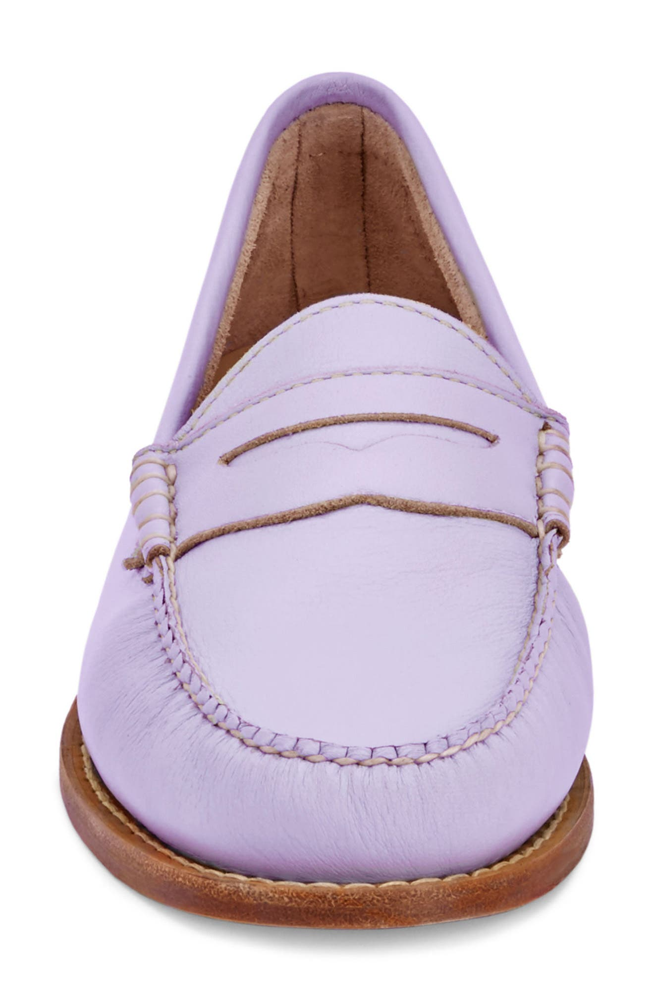 'Whitney' Loafer,                             Alternate thumbnail 4, color,                             Lilac Leather