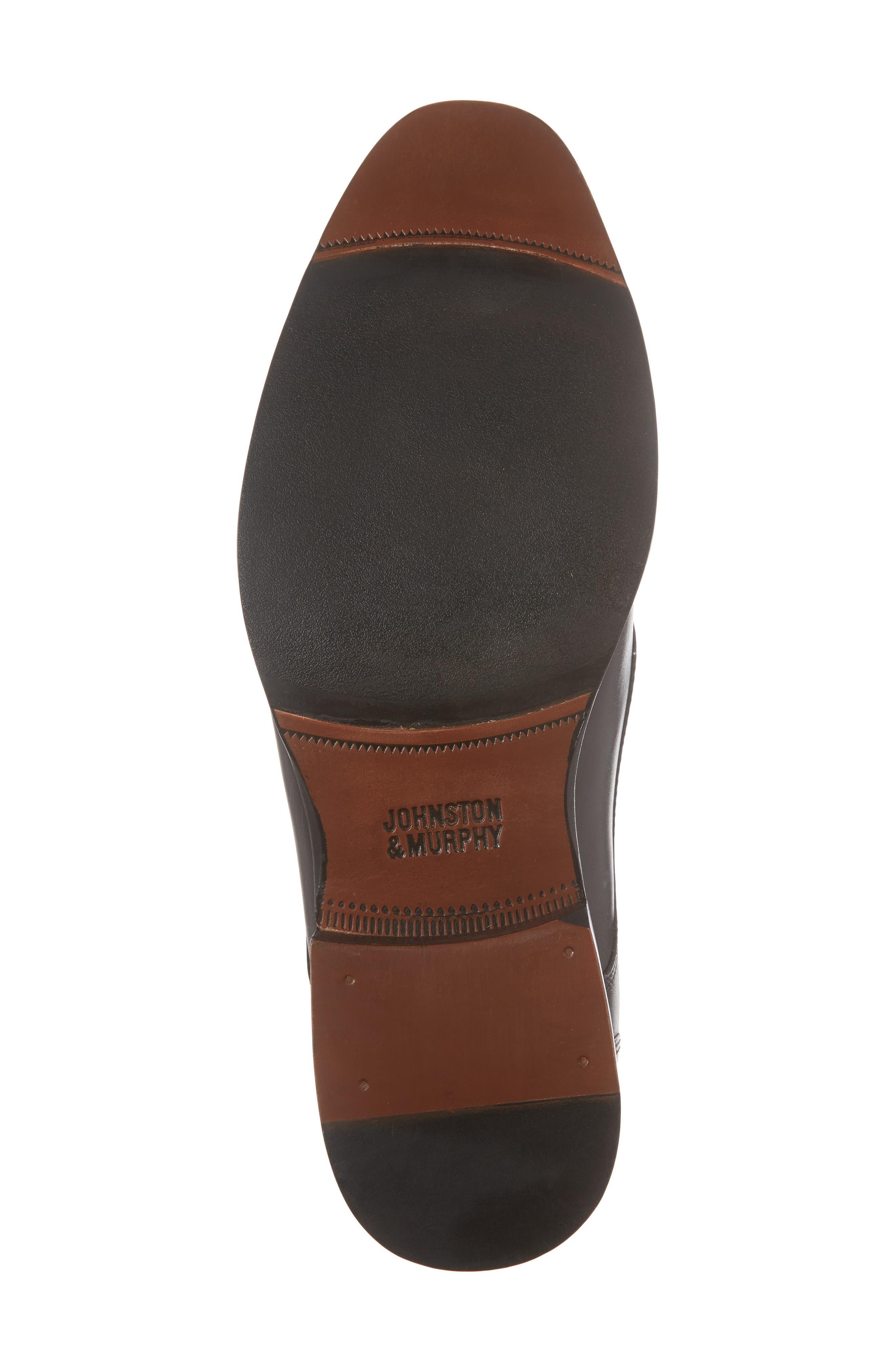 McClain Runoff Bike Toe Slip-On,                             Alternate thumbnail 6, color,                             Black Leather