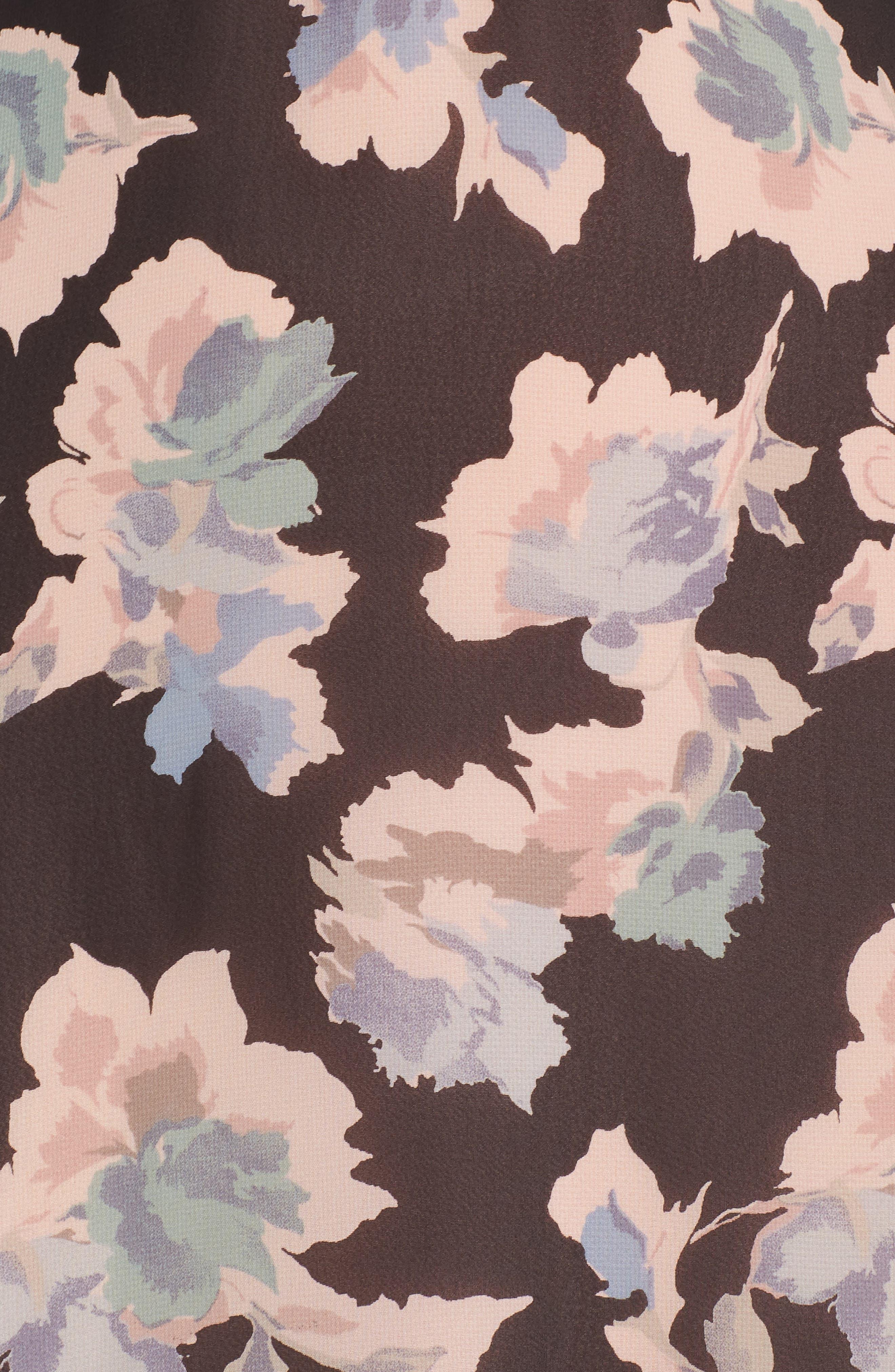 Alternate Image 5  - Mary & Mabel Floral Ruffle Hem Fit & Flare Dress