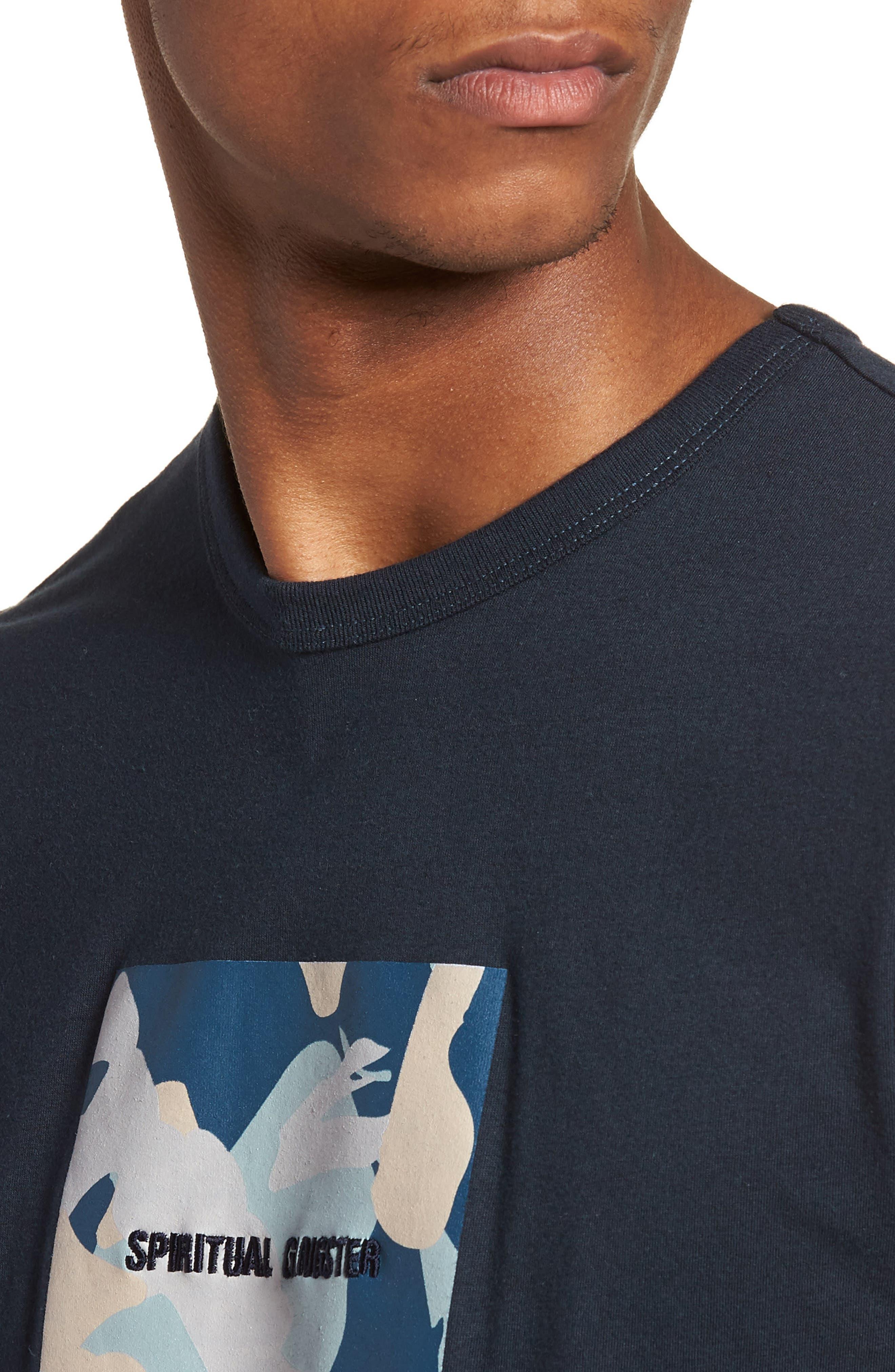 Nirvana Camo T-Shirt,                             Alternate thumbnail 4, color,                             Salute/ Navy