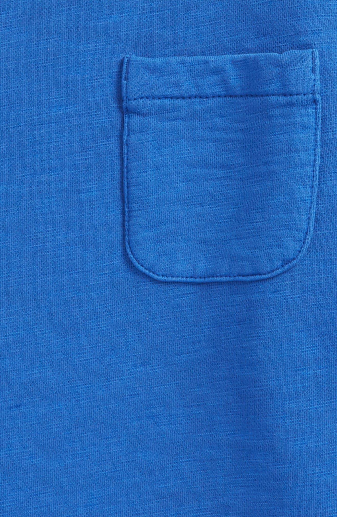 Alternate Image 2  - Mini Boden Pocket Crewneck Sweatshirt (Toddler Boys, Little Boys & Big Boys)