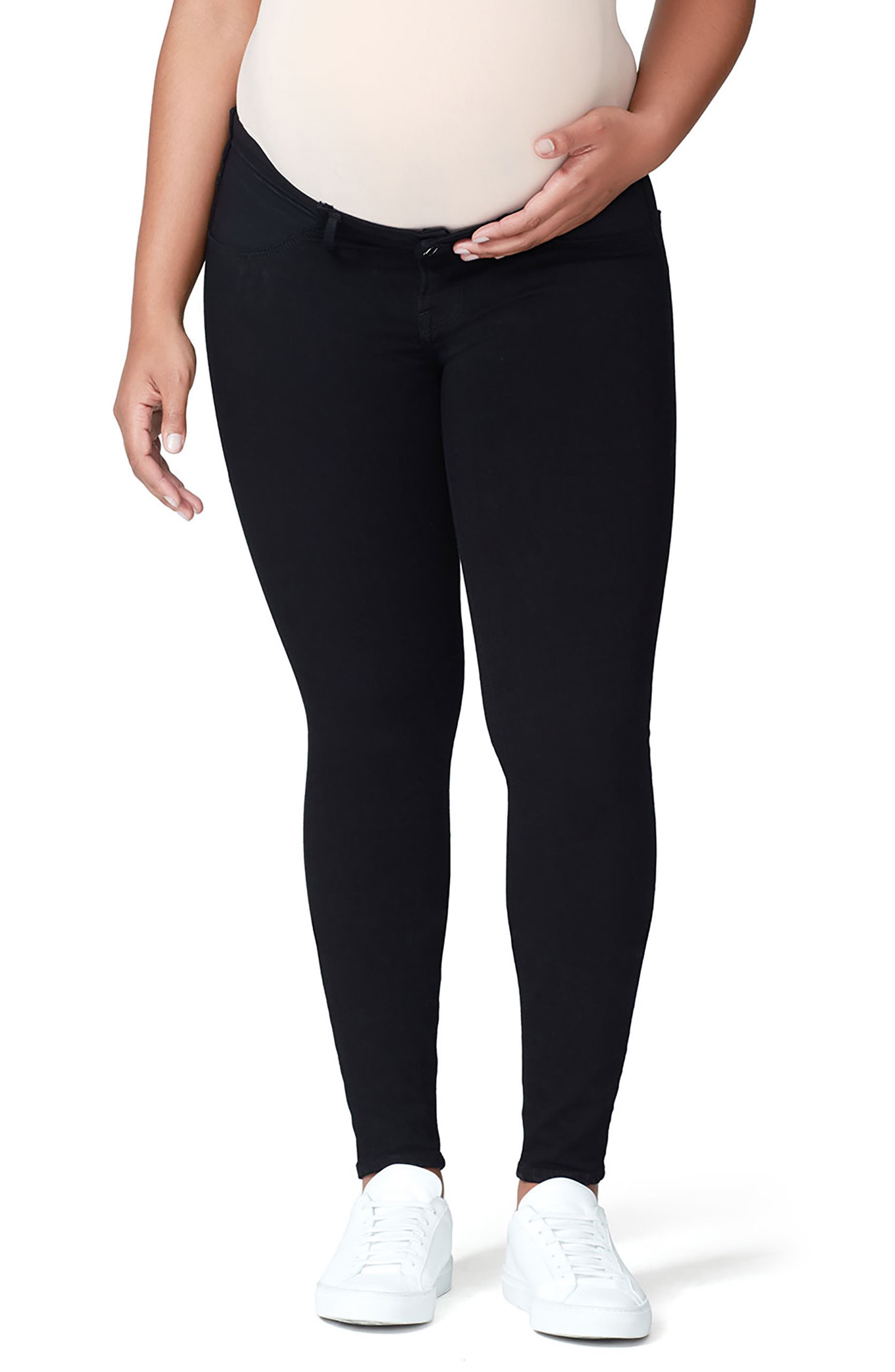 Good Mama The Honeymoon Low Rise Maternity Skinny Jeans,                         Main,                         color, Black