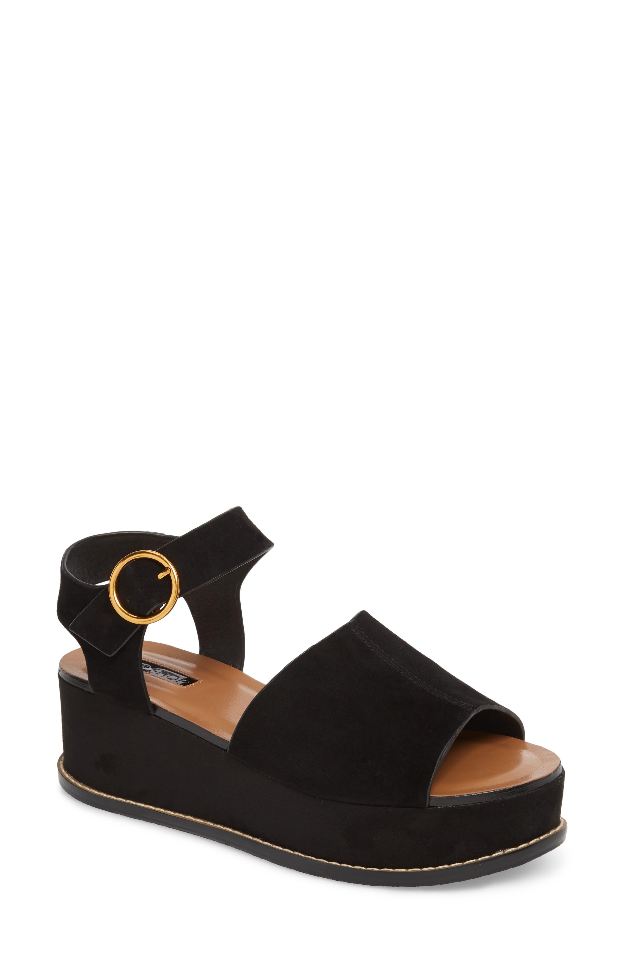Wow Platform Wedge Sandal,                         Main,                         color, Black
