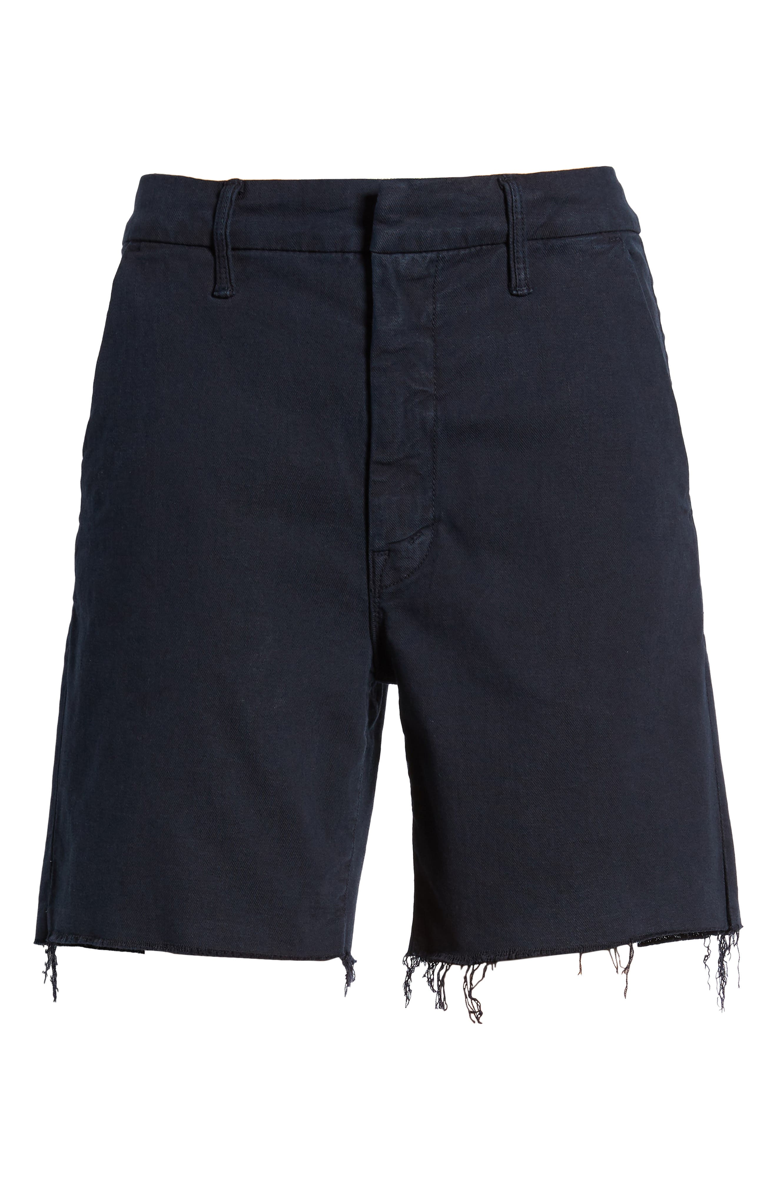 The Bermuda Prep Snippet Fray Twill Shorts,                             Alternate thumbnail 6, color,                             Navy