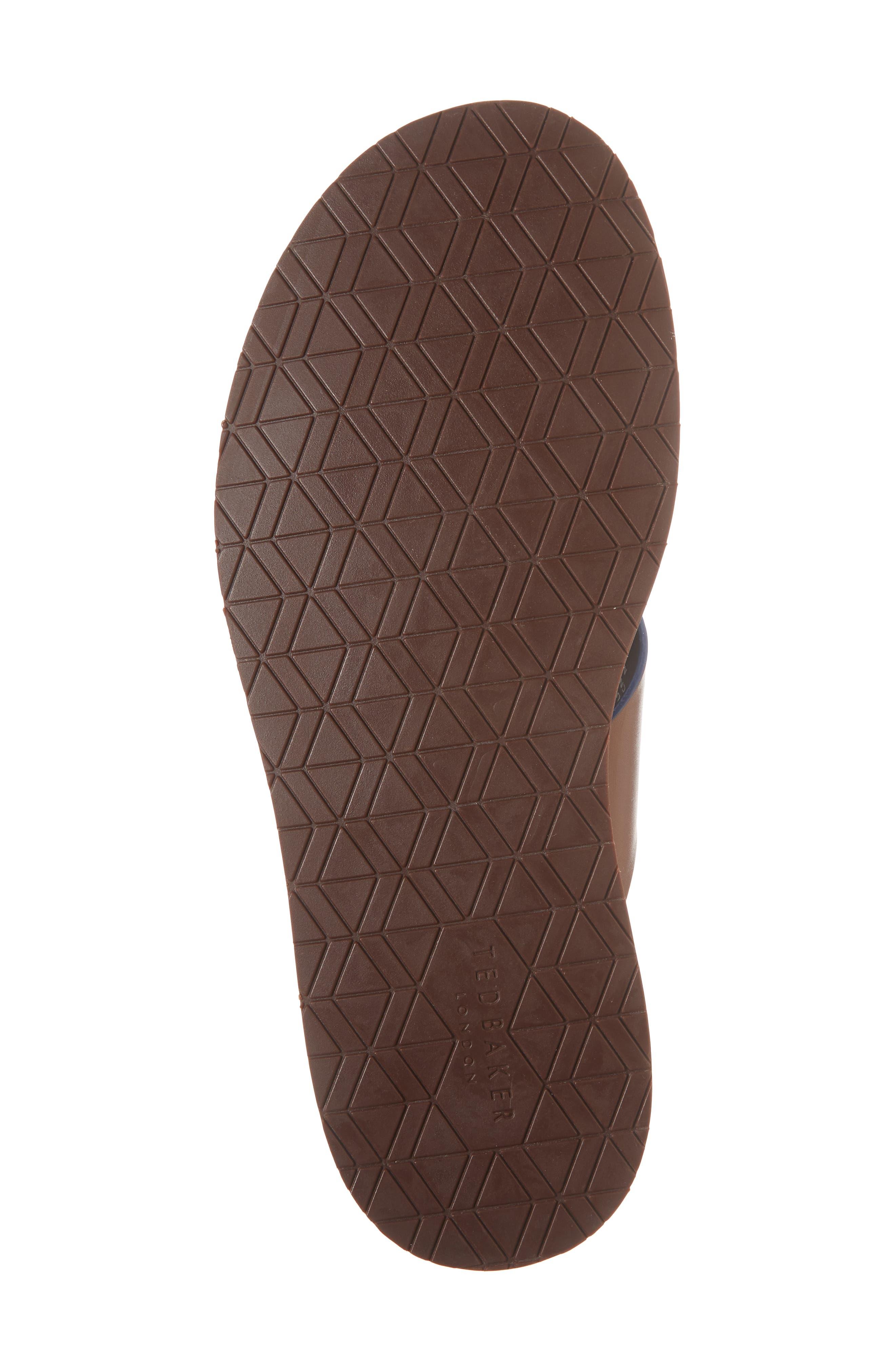 Farrull Cross Strap Slide Sandal,                             Alternate thumbnail 6, color,                             Tan Leather/ Textile