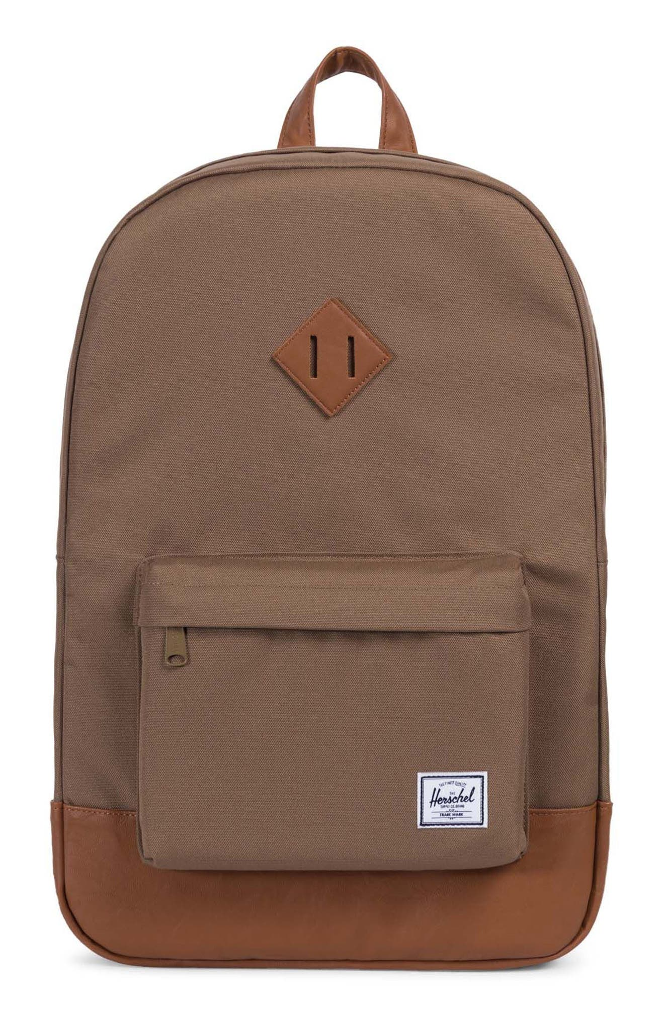 Heritage Backpack,                         Main,                         color, Cub/ Tan