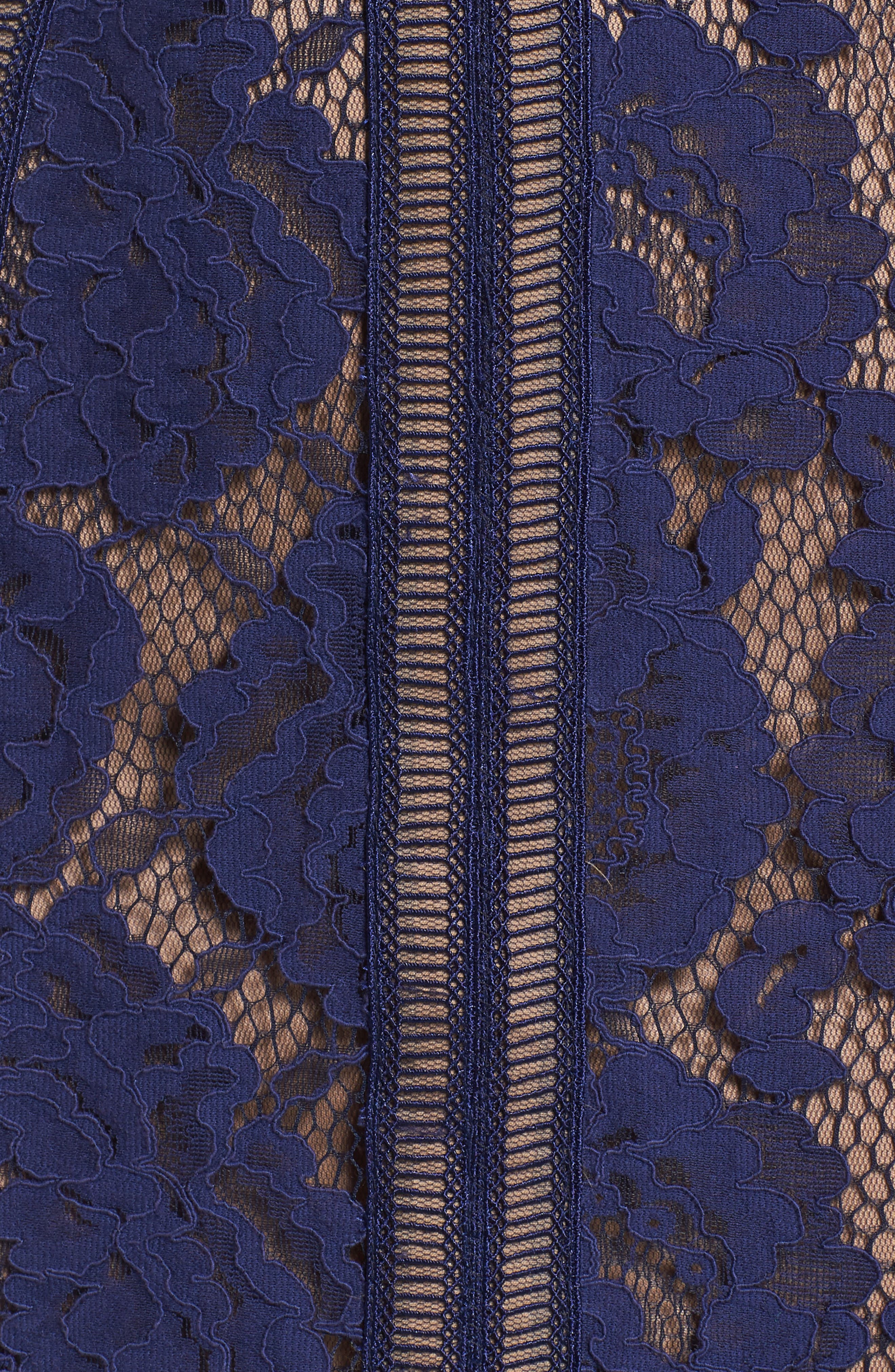 Lace Sheath Dress,                             Alternate thumbnail 5, color,                             Notte/ Nude