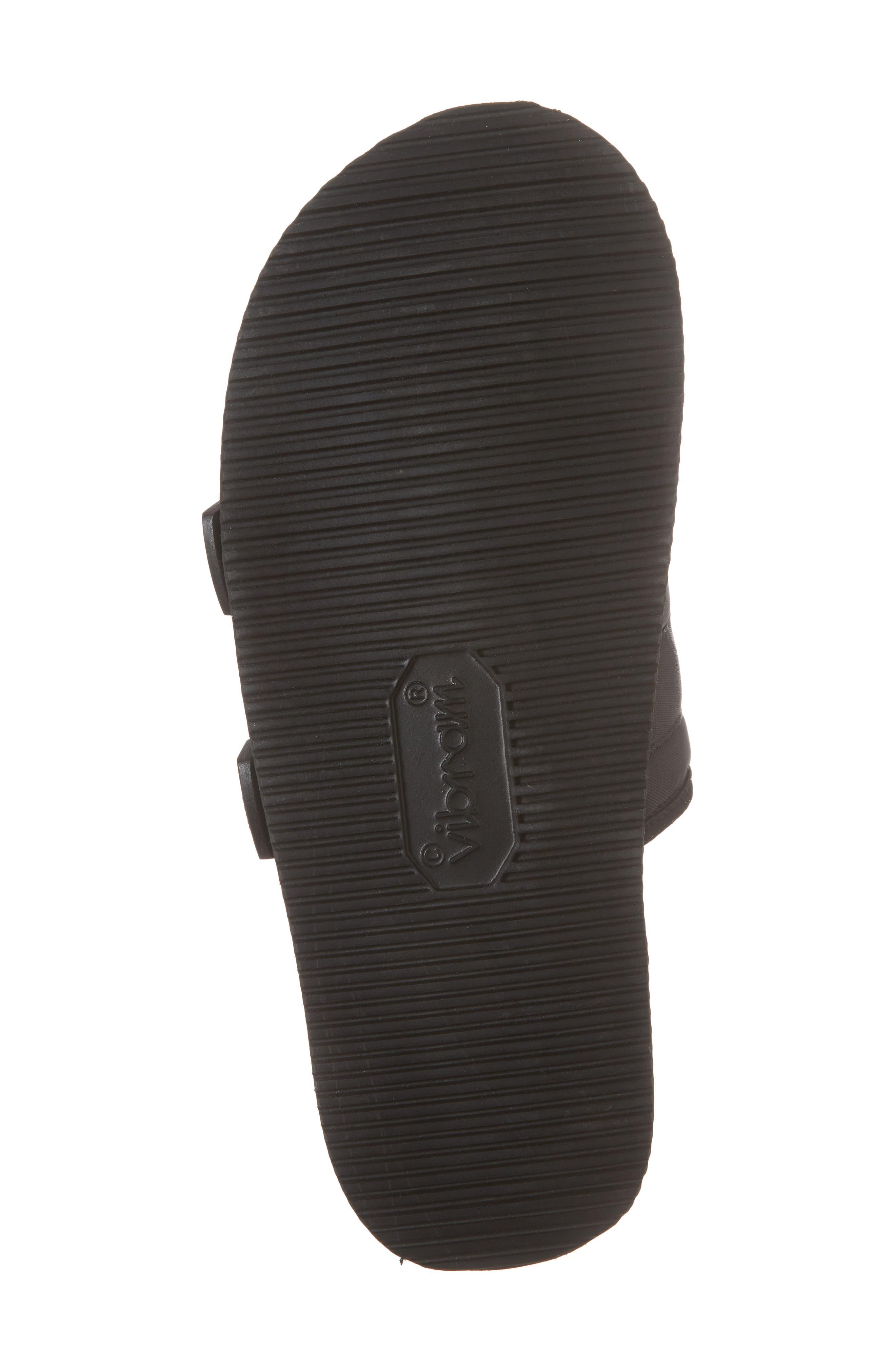 Moto Cab Slide Sandal,                             Alternate thumbnail 6, color,                             Black