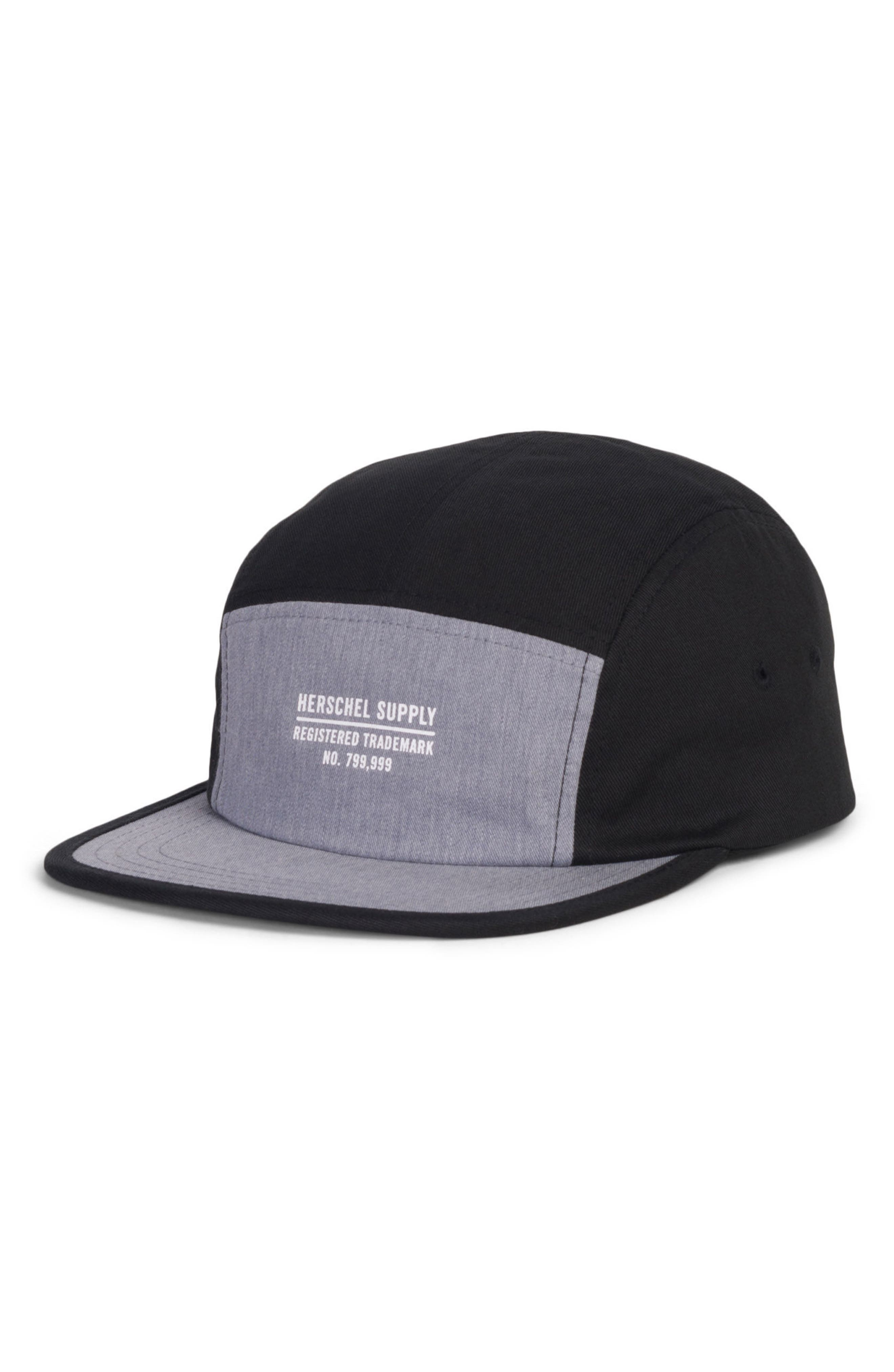 Glendale Colorblocked Cap,                             Main thumbnail 1, color,                             Black/ Heather Grey