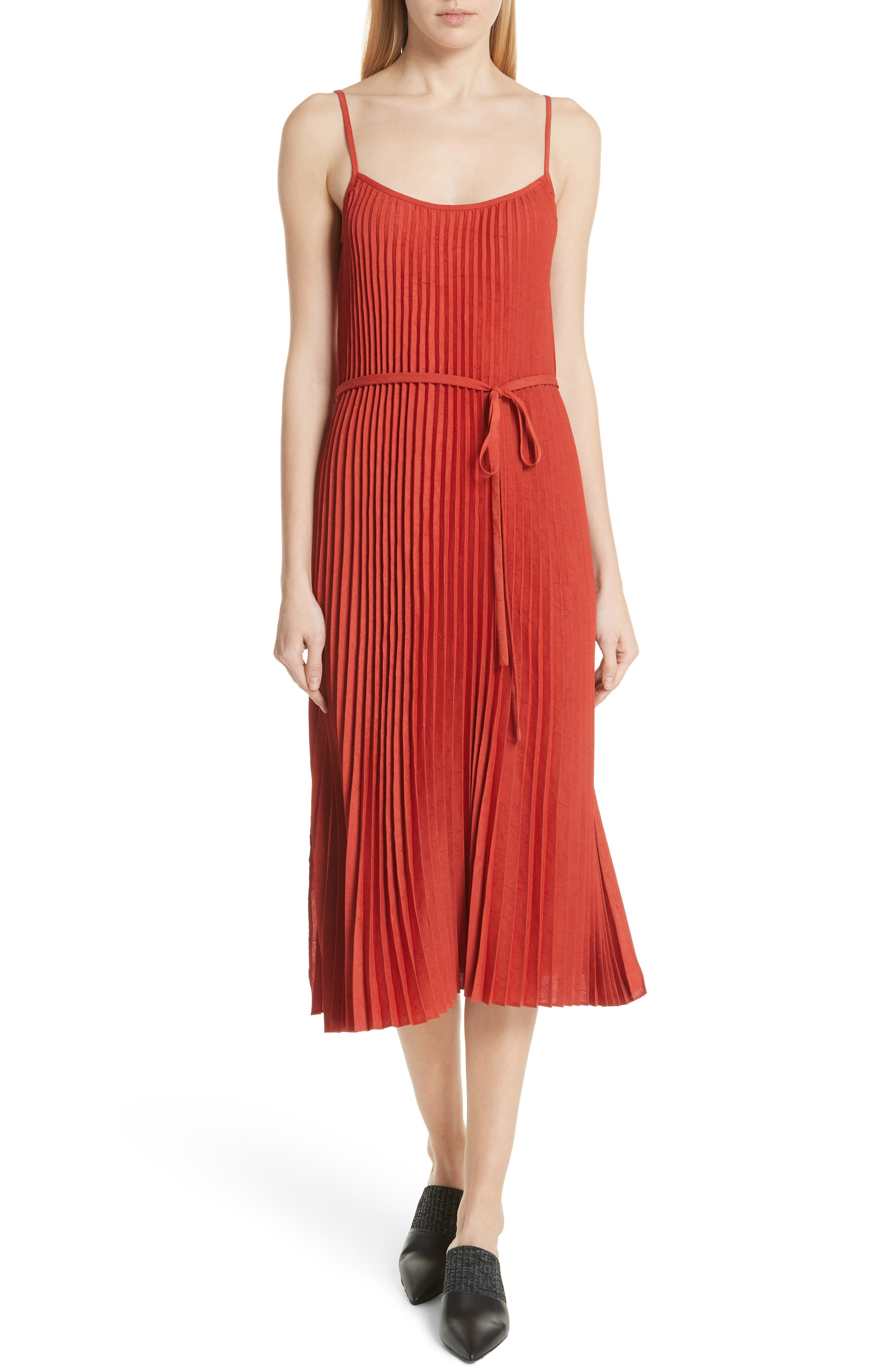 Pleated Cami Dress by Vince