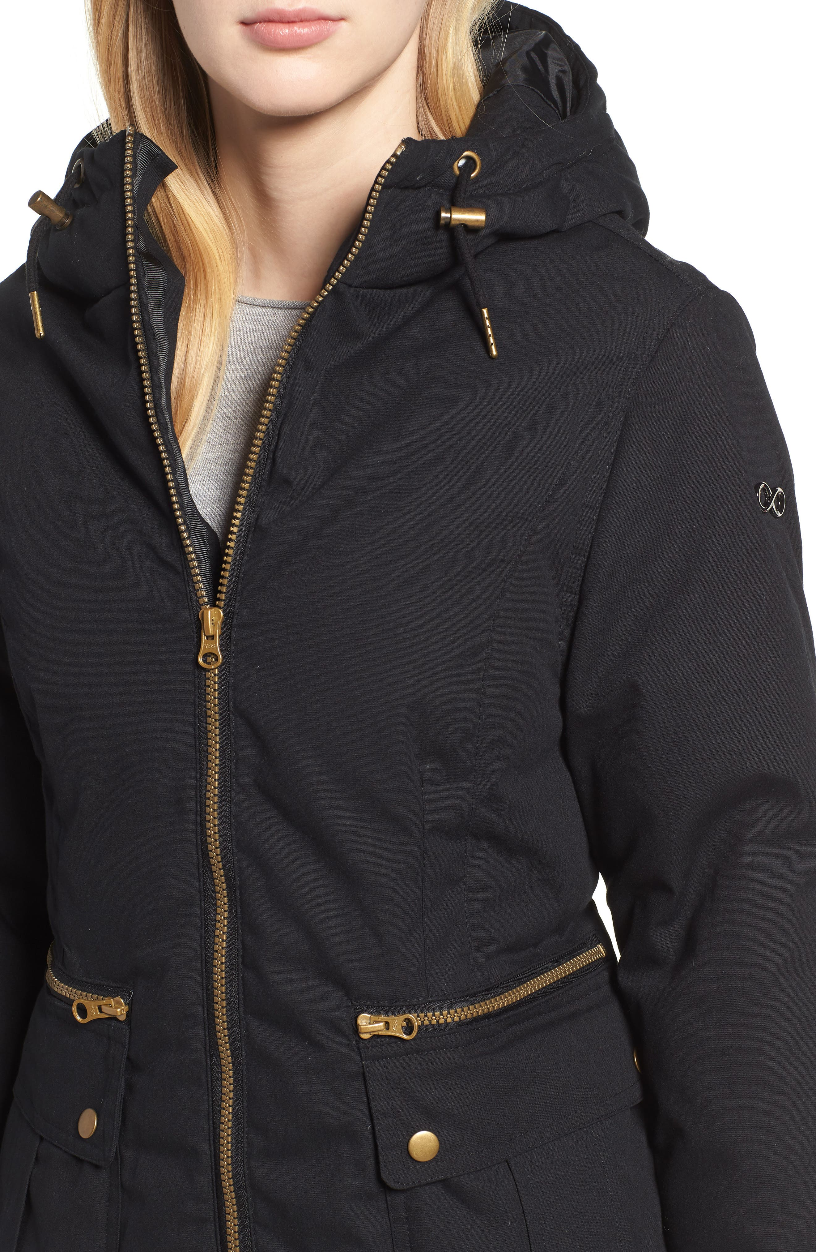 Convertible Down 3-in-1 Maternity Jacket,                             Alternate thumbnail 6, color,                             Black
