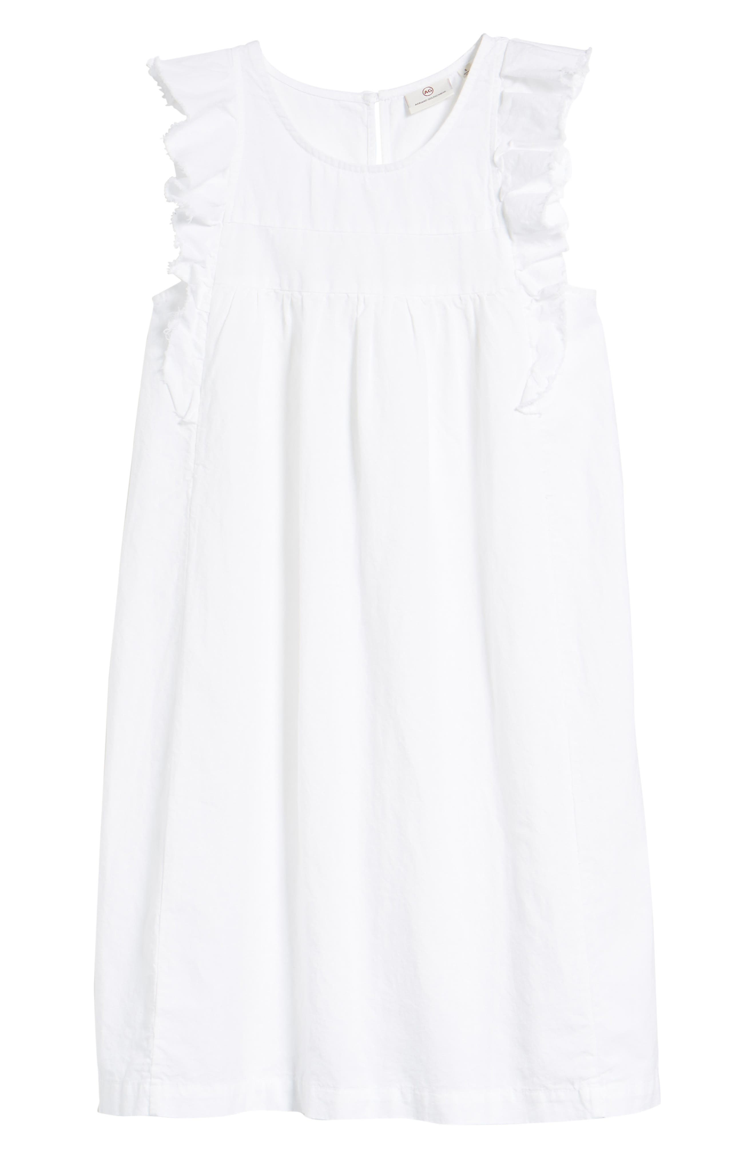 Jennifer Ruffle Babydoll Dress,                             Alternate thumbnail 7, color,                             True White