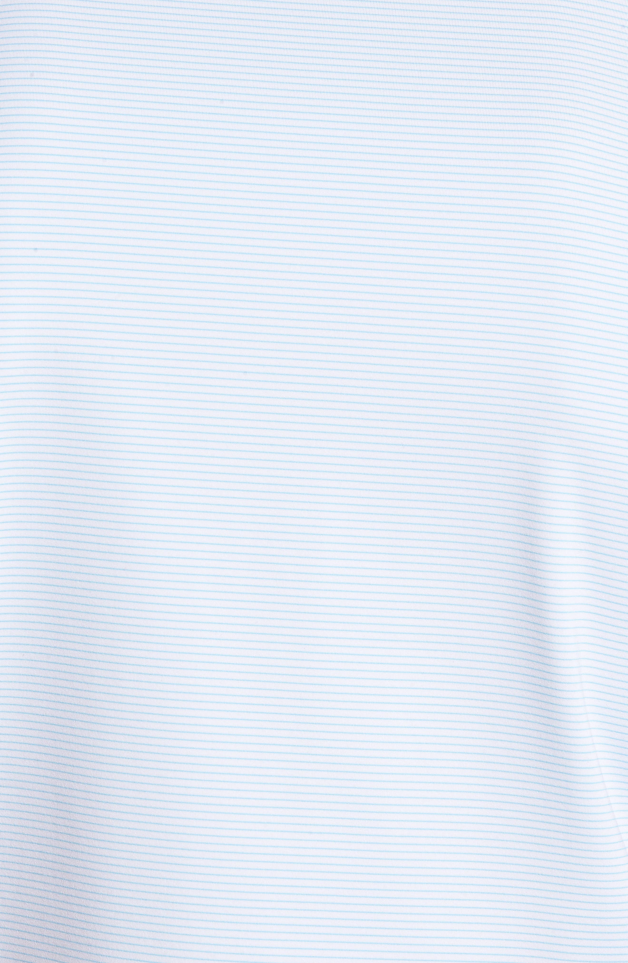 Halford Stripe Stretch Jersey Polo,                             Alternate thumbnail 5, color,                             White/ Grotto Blue