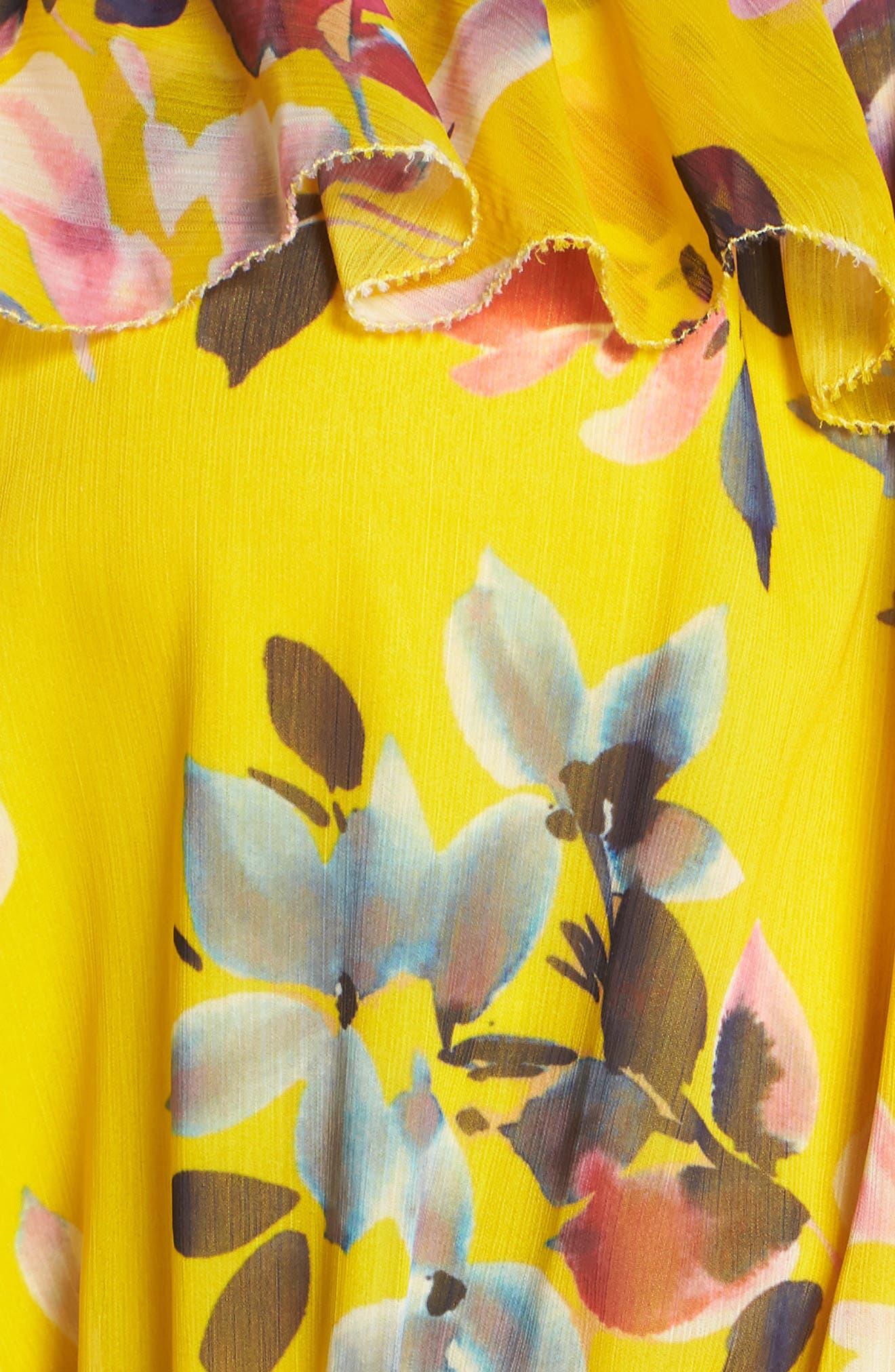 Linosa Crinkle Maxi Dress,                             Alternate thumbnail 6, color,                             Citrus