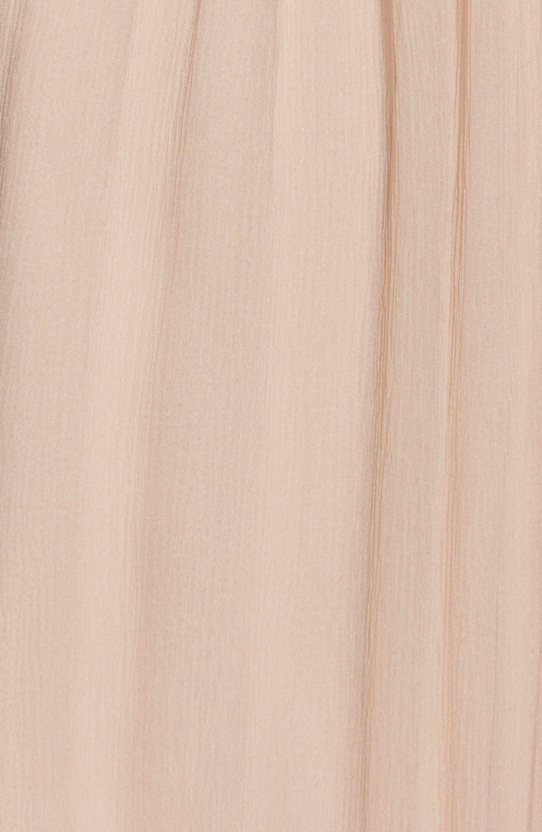 Alternate Image 3  - Amsale Chiffon Halter Gown