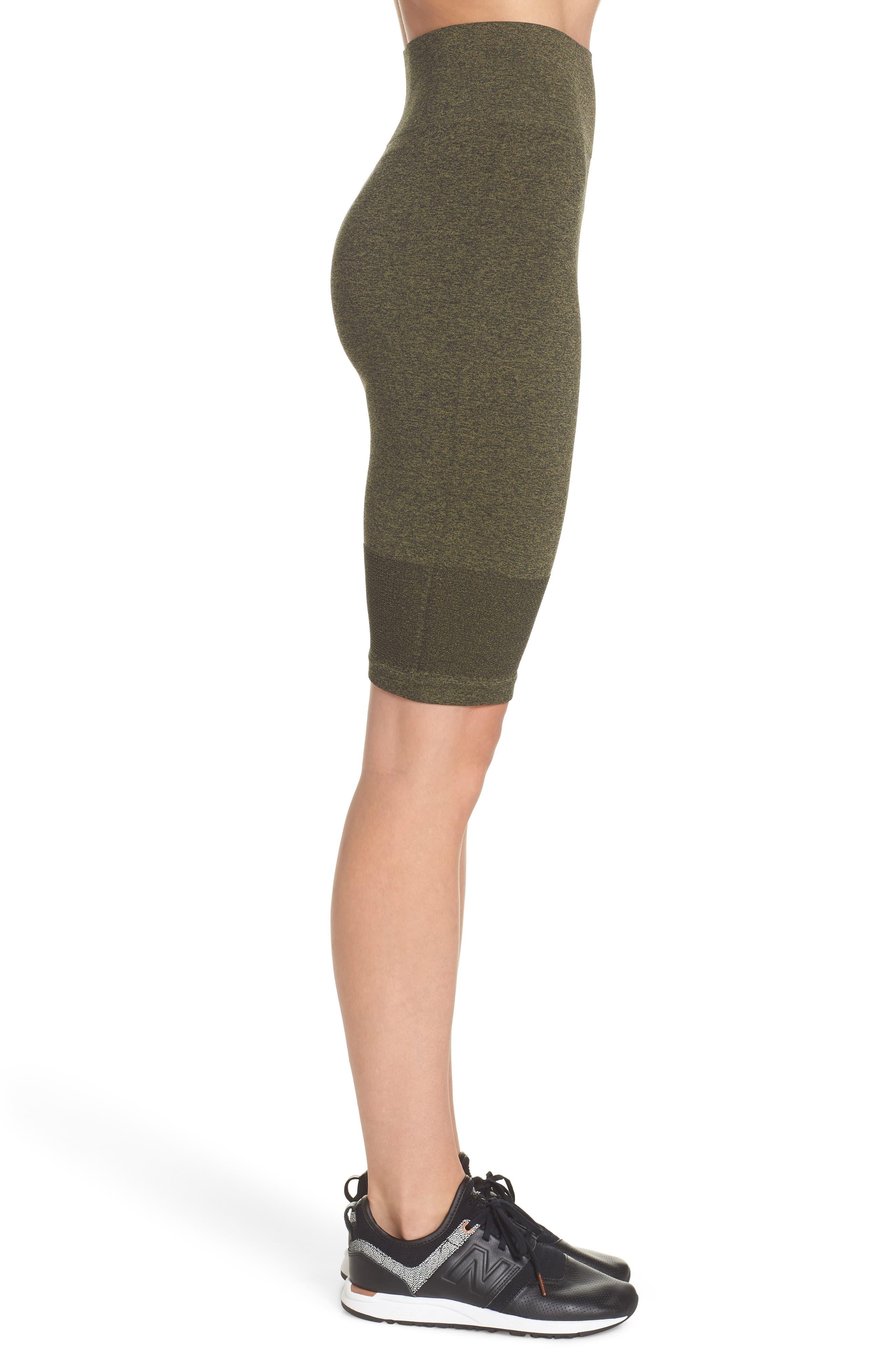 Aura Seamless Skirt,                             Alternate thumbnail 3, color,                             Deep Lichen Green/ Black