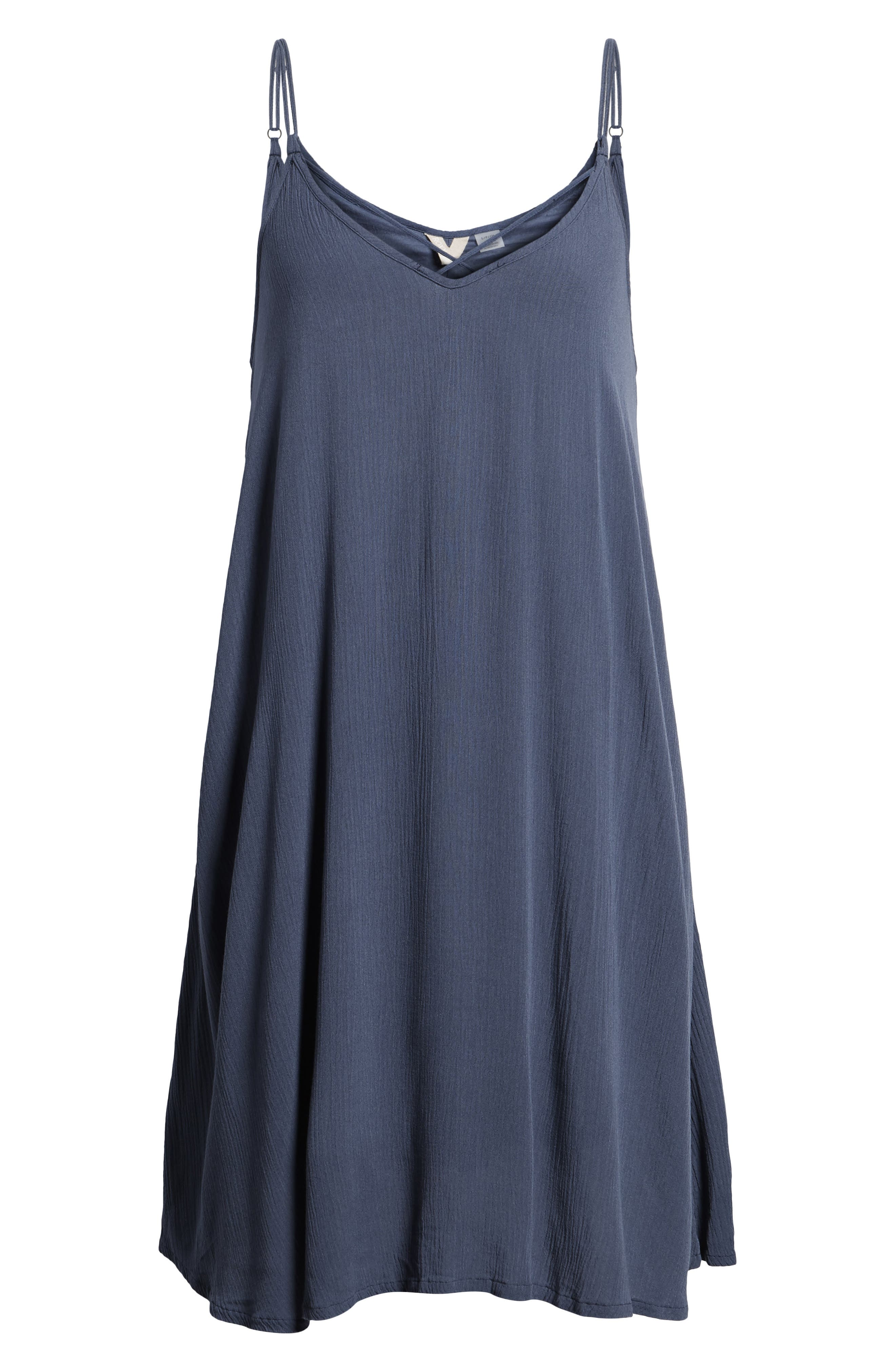Half Year Old Trapeze Dress,                             Alternate thumbnail 7, color,                             Crown Blue