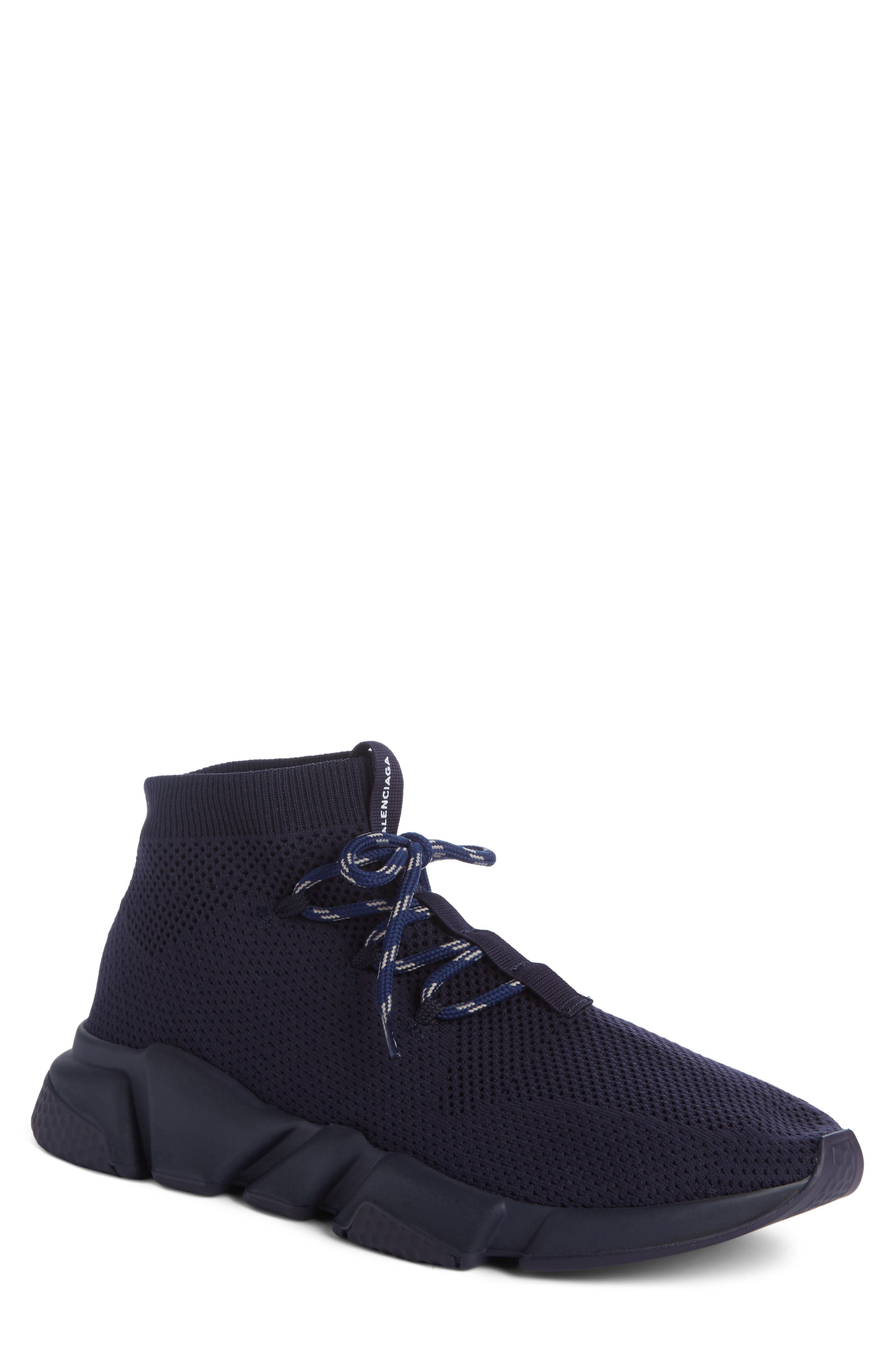Mid-Top Sneaker,                         Main,                         color, Blue Marine/Blanc White