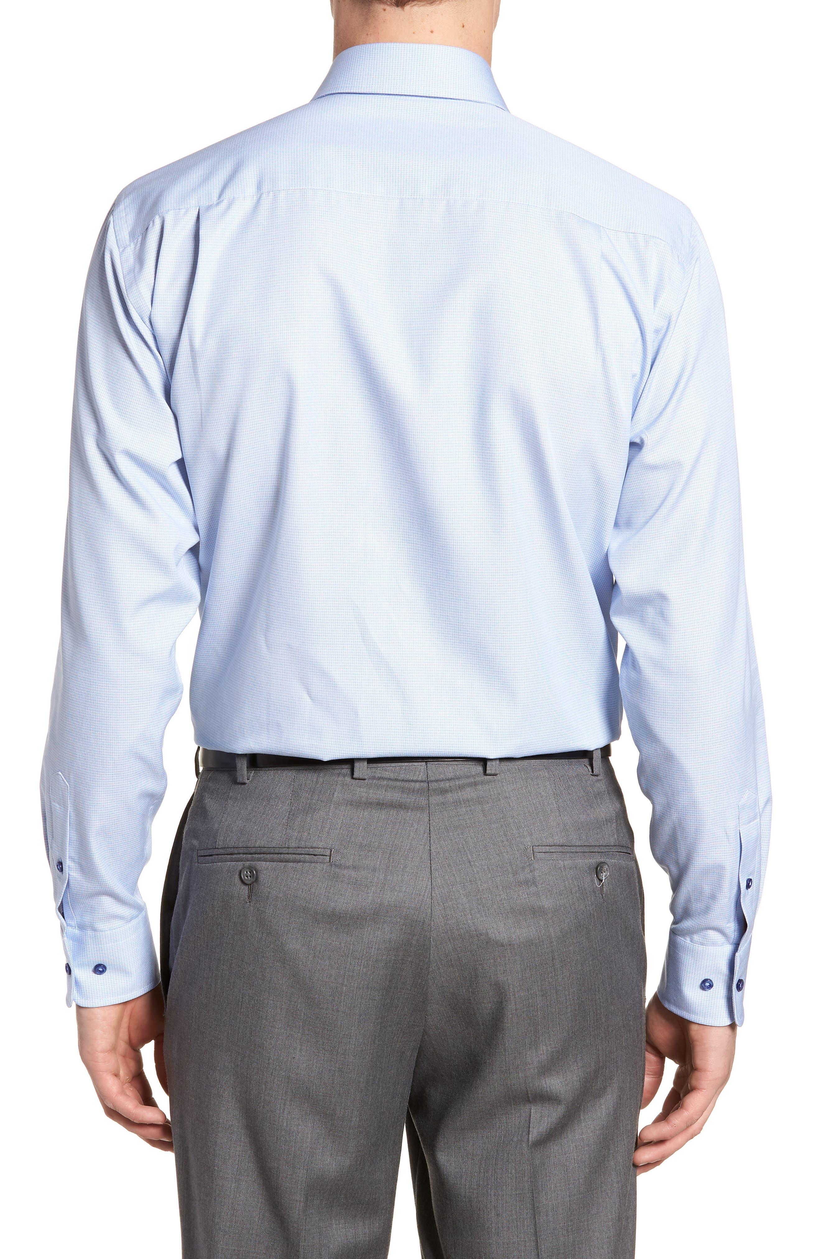 Regular Fit Solid Dress Shirt,                             Alternate thumbnail 3, color,                             Blue