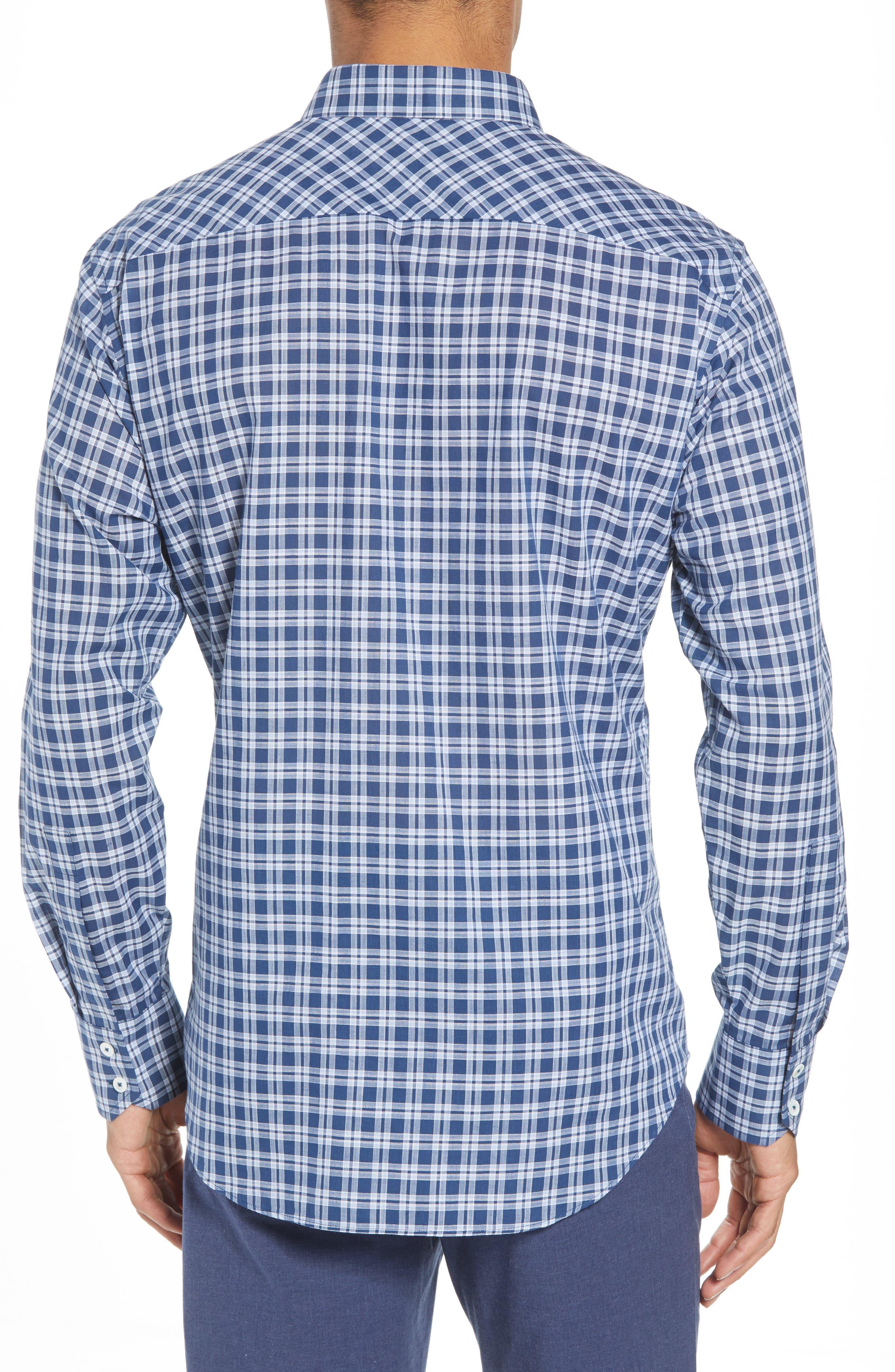 Speer Regular Fit Sport Shirt,                             Alternate thumbnail 2, color,                             Indigo