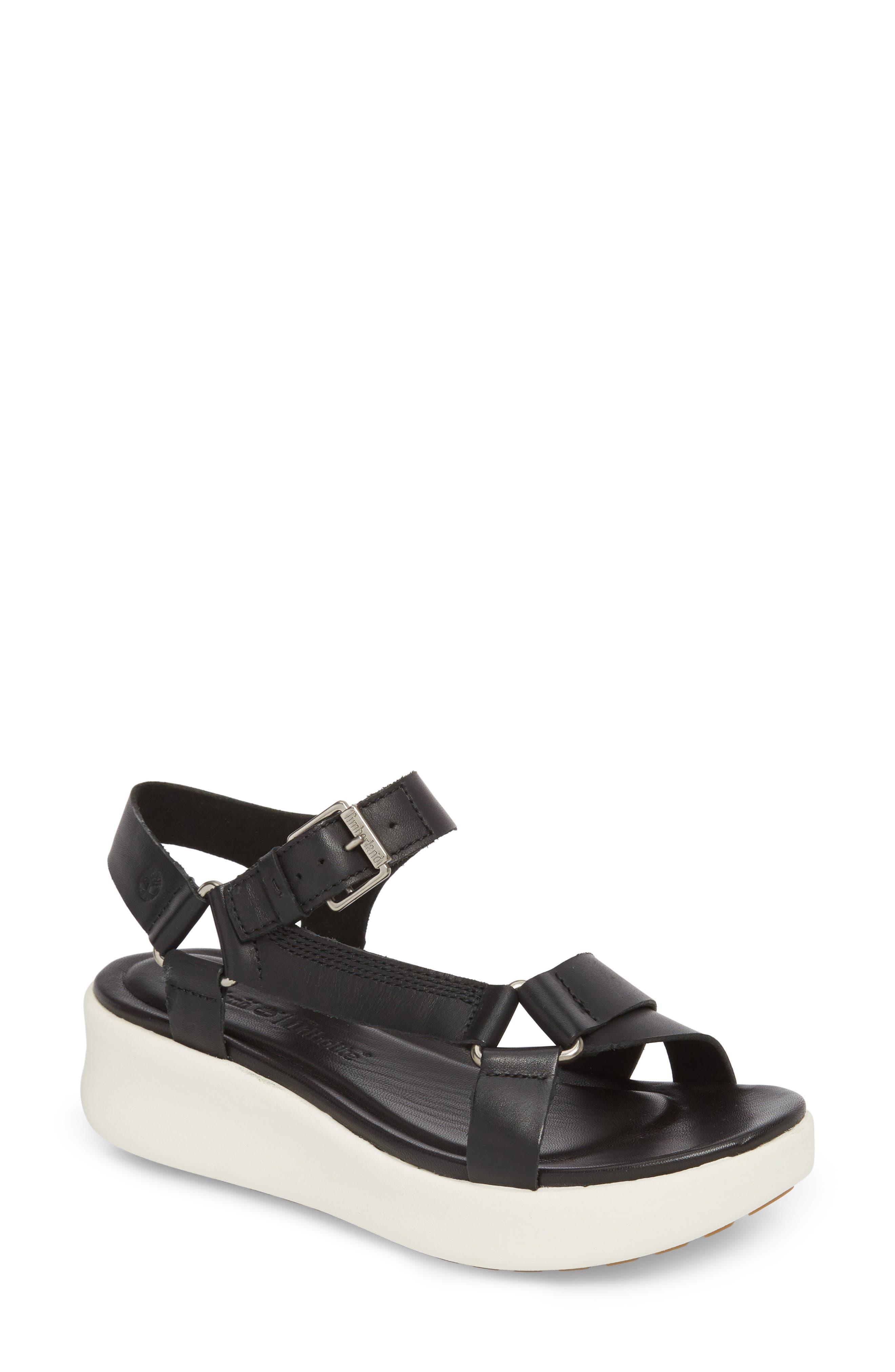 Los Angeles Wind Sport Sandal,                         Main,                         color, Black Leather