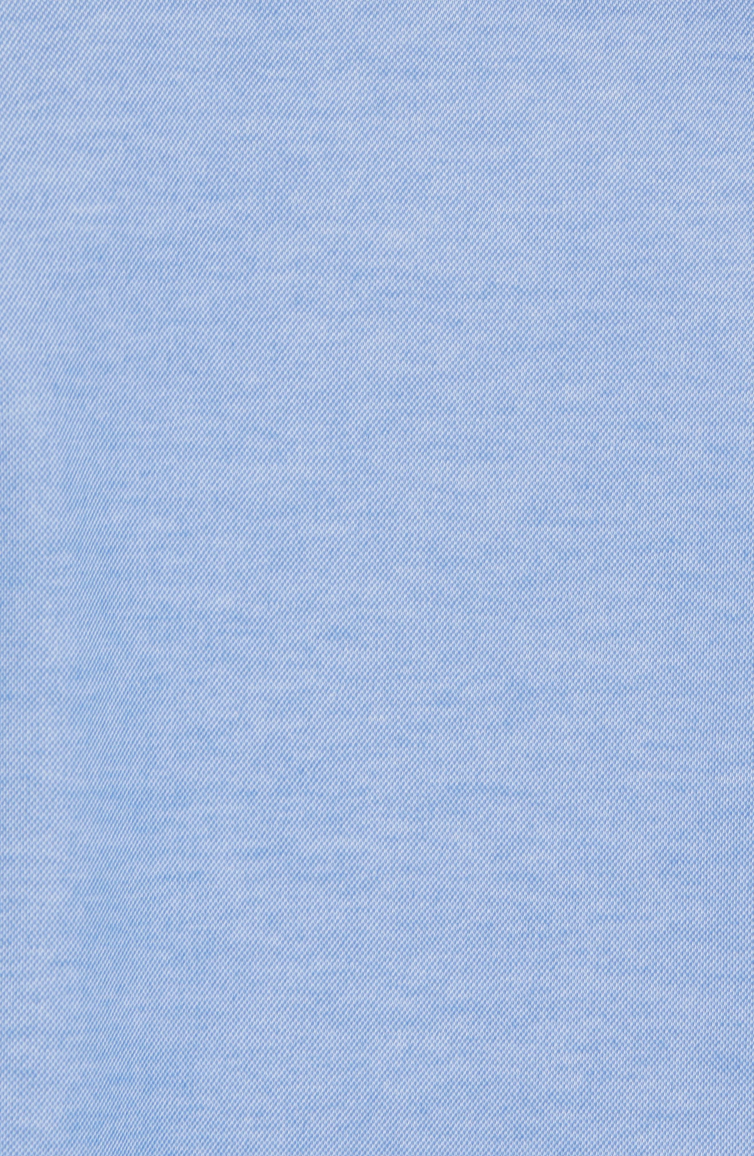 Caruth Piqué Sport Shirt,                             Alternate thumbnail 5, color,                             Azure