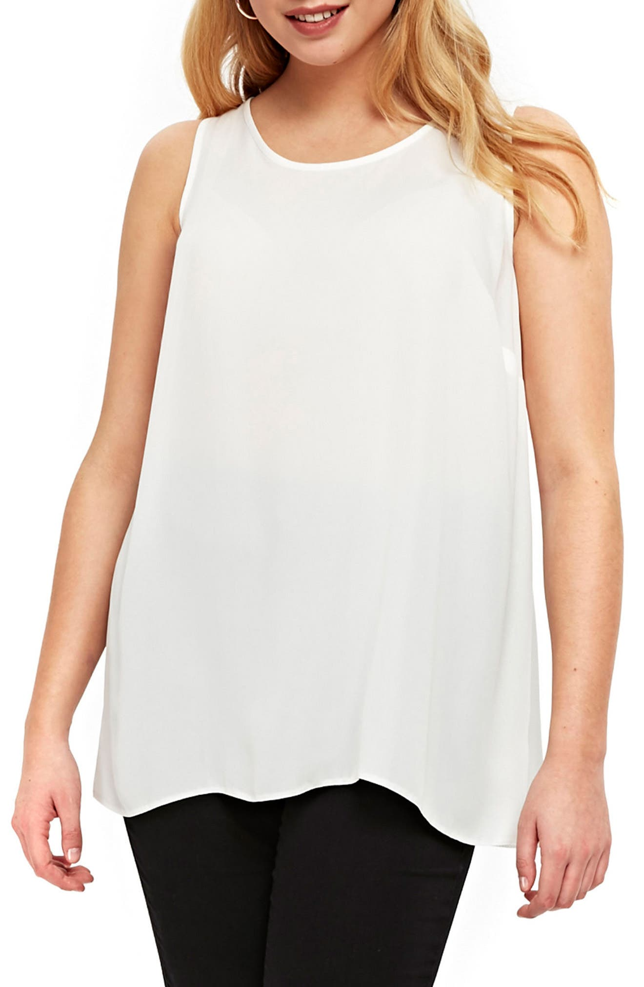 Tunic Top,                         Main,                         color, Ivory