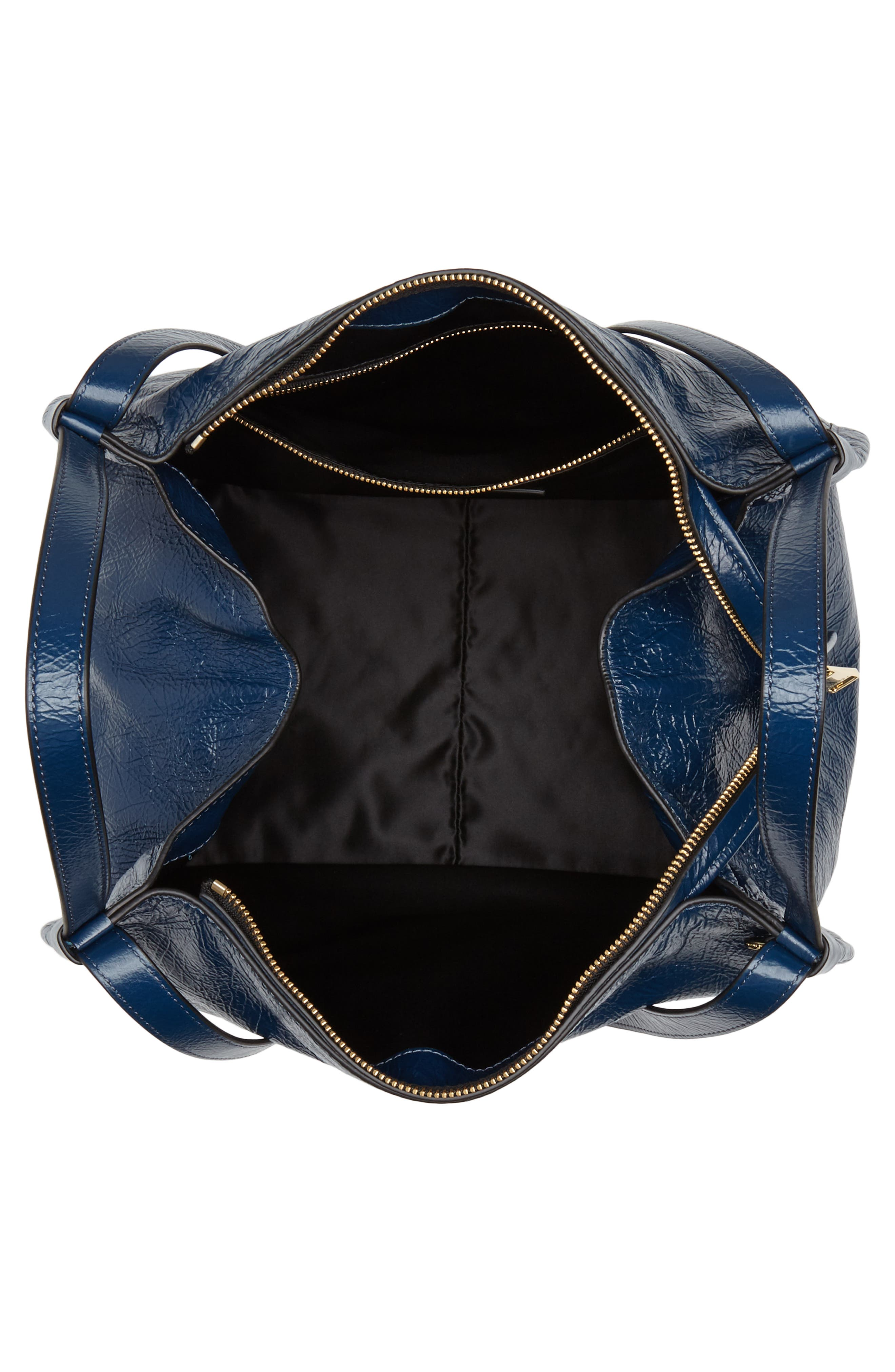 Leather Sport Tote,                             Alternate thumbnail 6, color,                             Island Blue