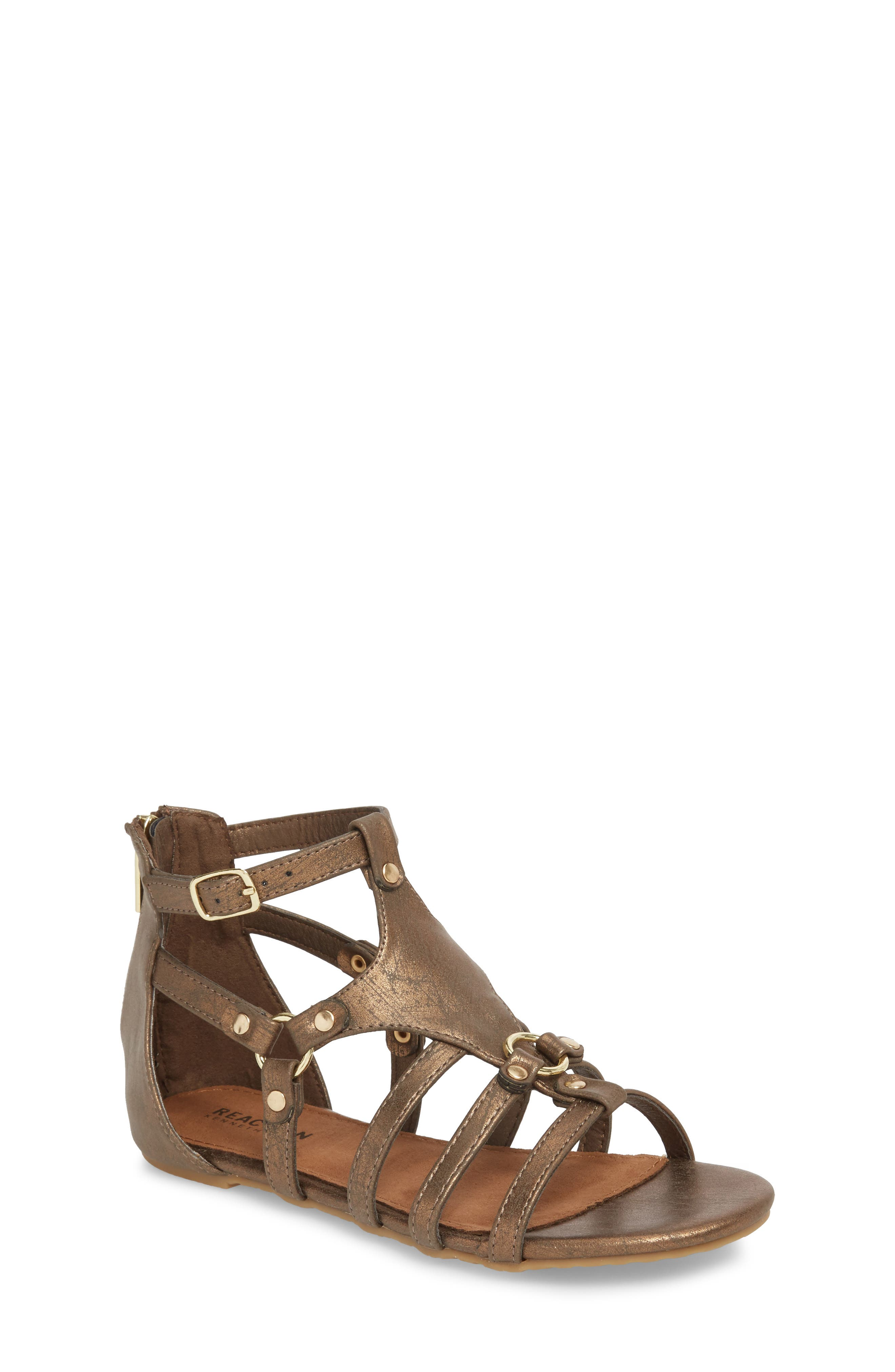 Reaction Kenneth Cole Kiera Metallic Sandal,                         Main,                         color, Bronze