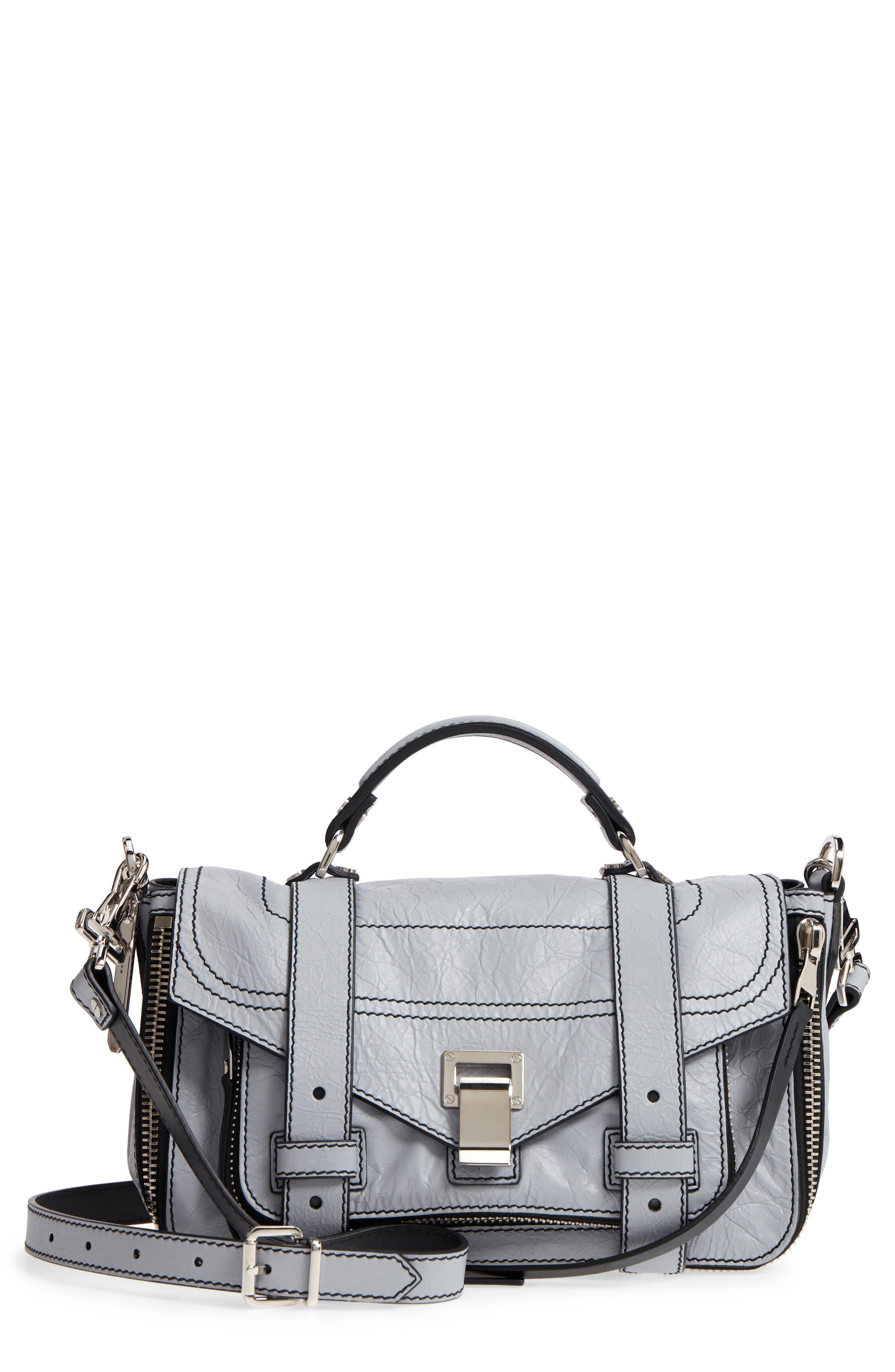 Proenza Schouler PS1+ Medium Paper Leather Satchel Bag E4x4nI
