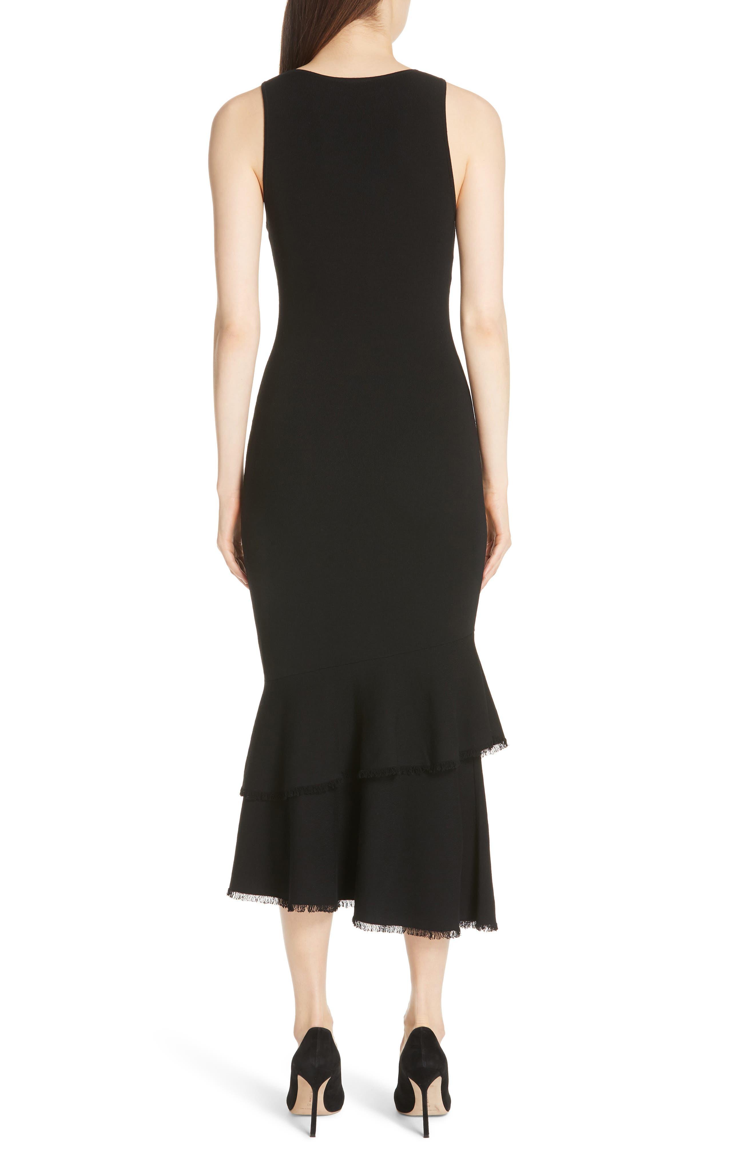 Nilimary Prosecco Midi Dress,                             Alternate thumbnail 2, color,                             Black