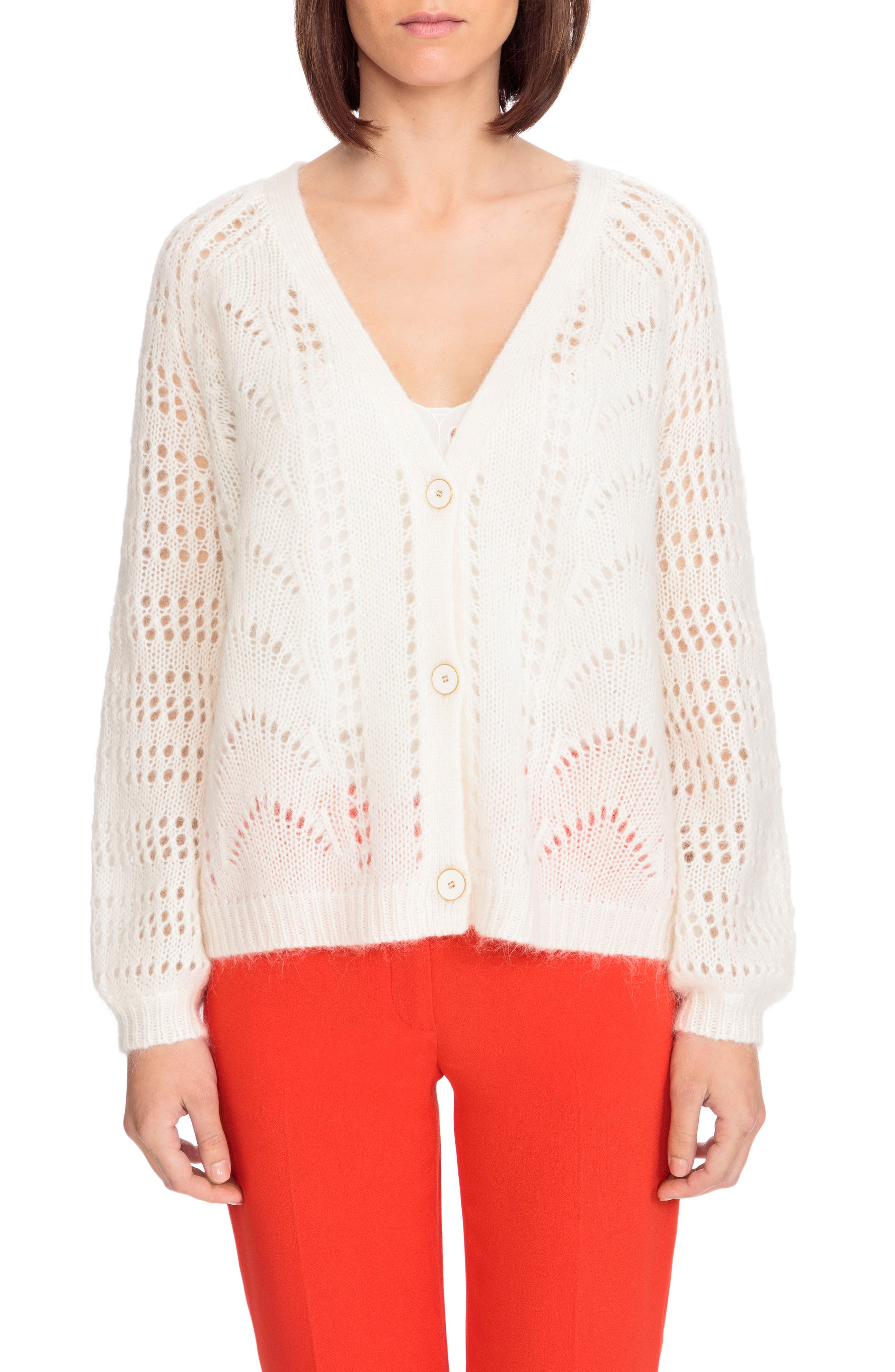 Dereck Cardigan,                             Main thumbnail 1, color,                             Off White