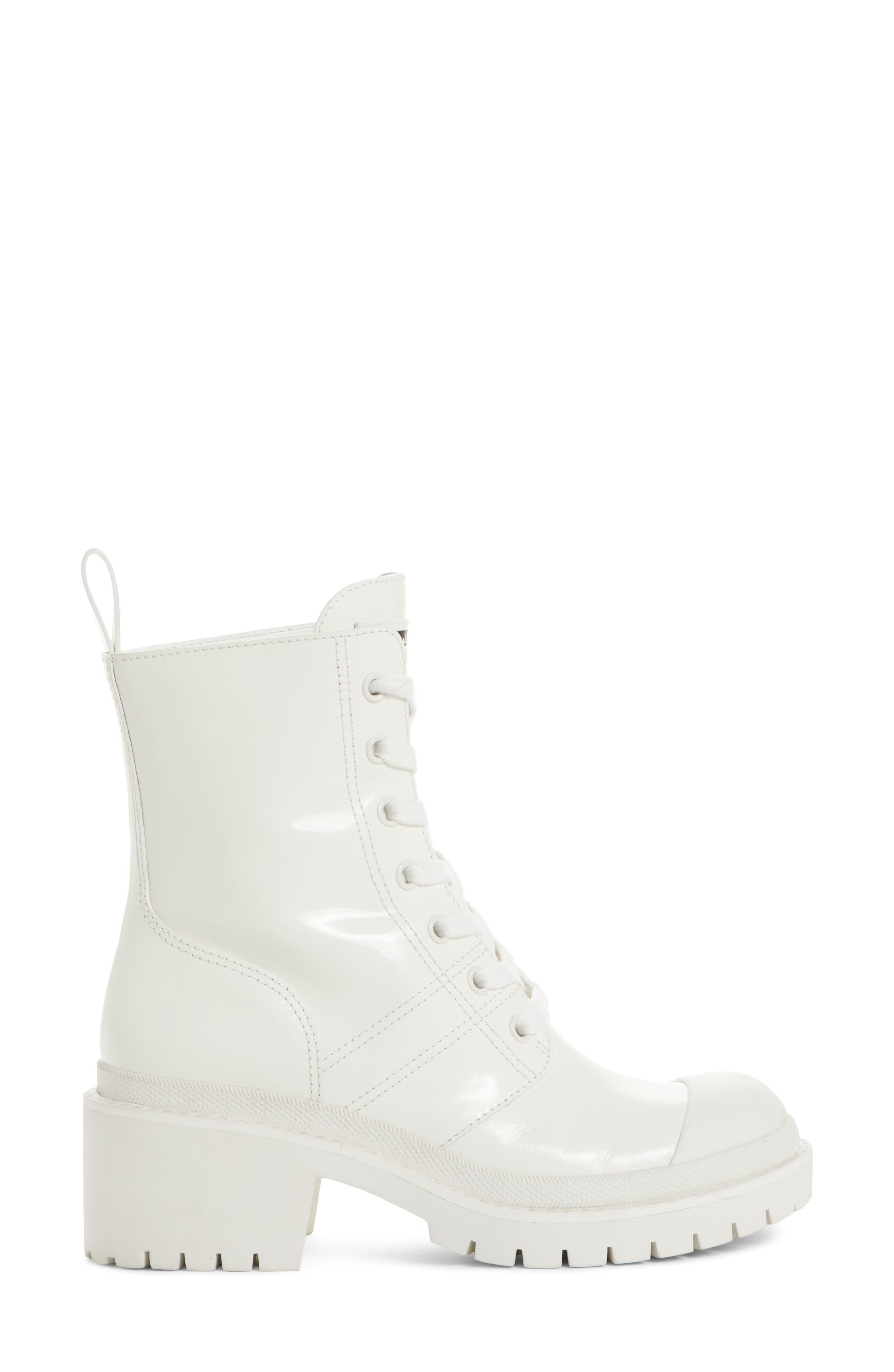 Bristol Lace-Up Boot,                             Alternate thumbnail 6, color,                             White