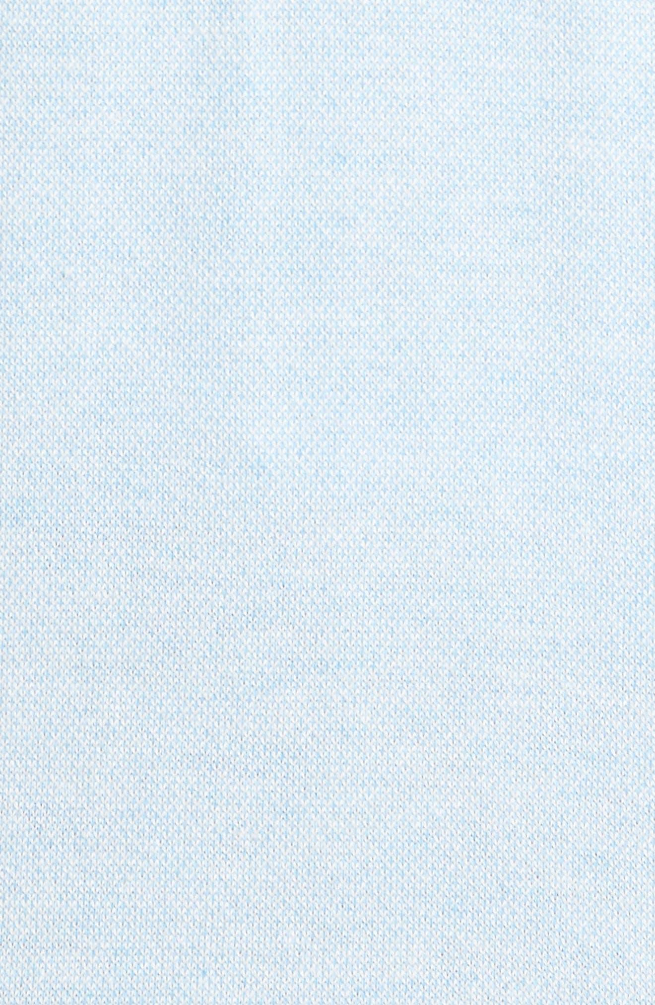 Crown Bird's Eye Cotton & Silk Quarter Zip Sweater,                             Alternate thumbnail 5, color,                             Tarheel Blue