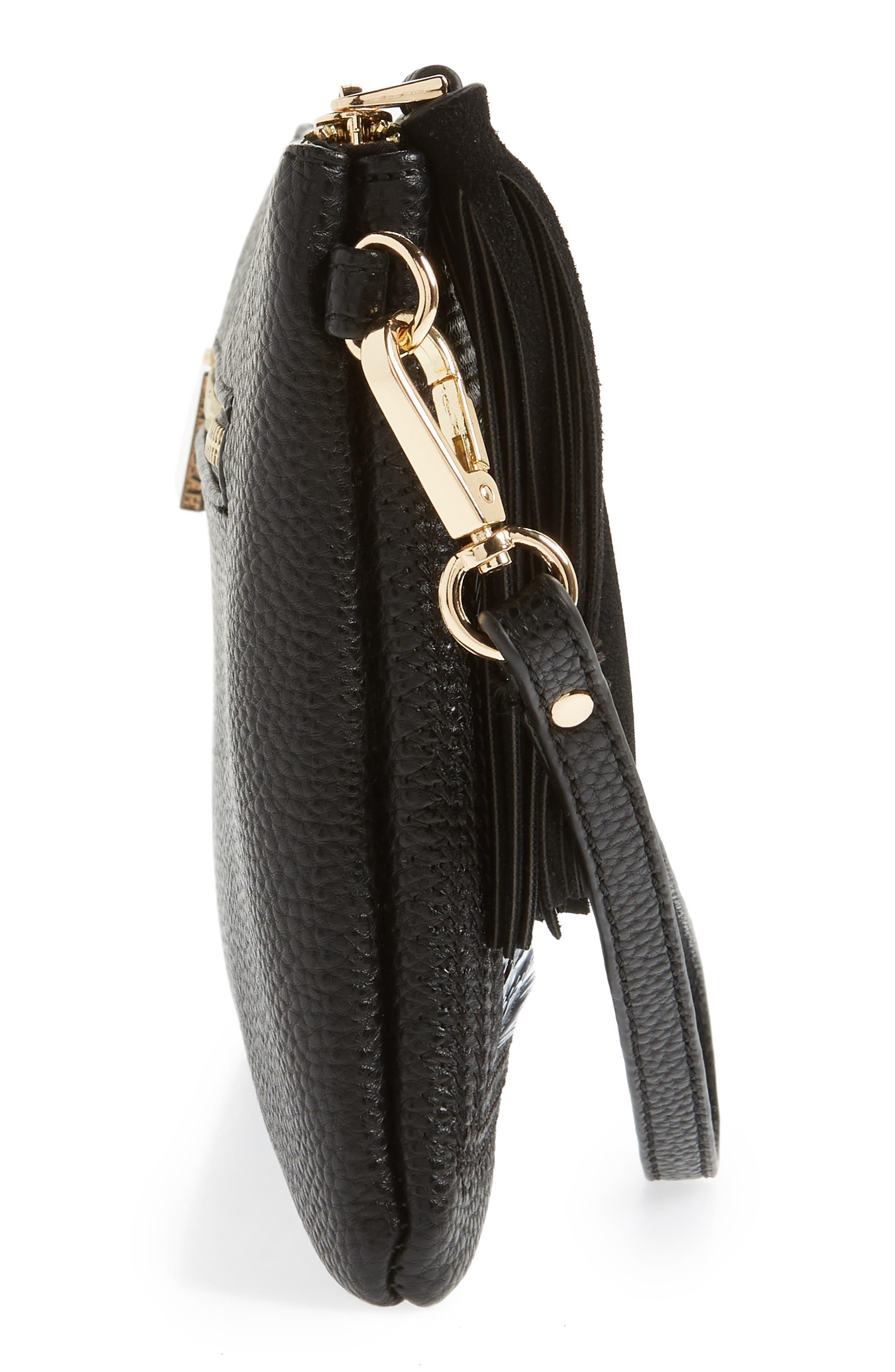 Indecisive Reversible Sequin Faux Leather Clutch,                             Alternate thumbnail 6, color,                             Black